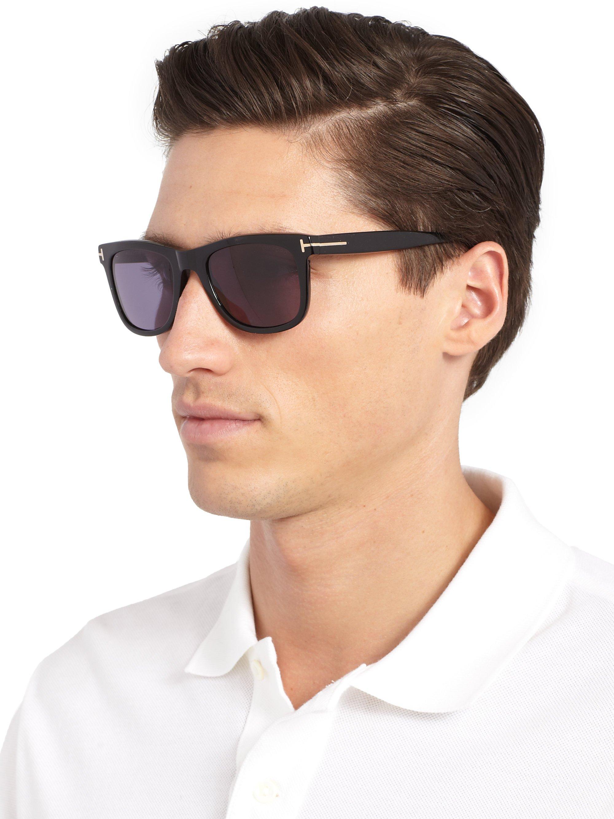 lyst tom ford leo sunglasses in black for men. Black Bedroom Furniture Sets. Home Design Ideas