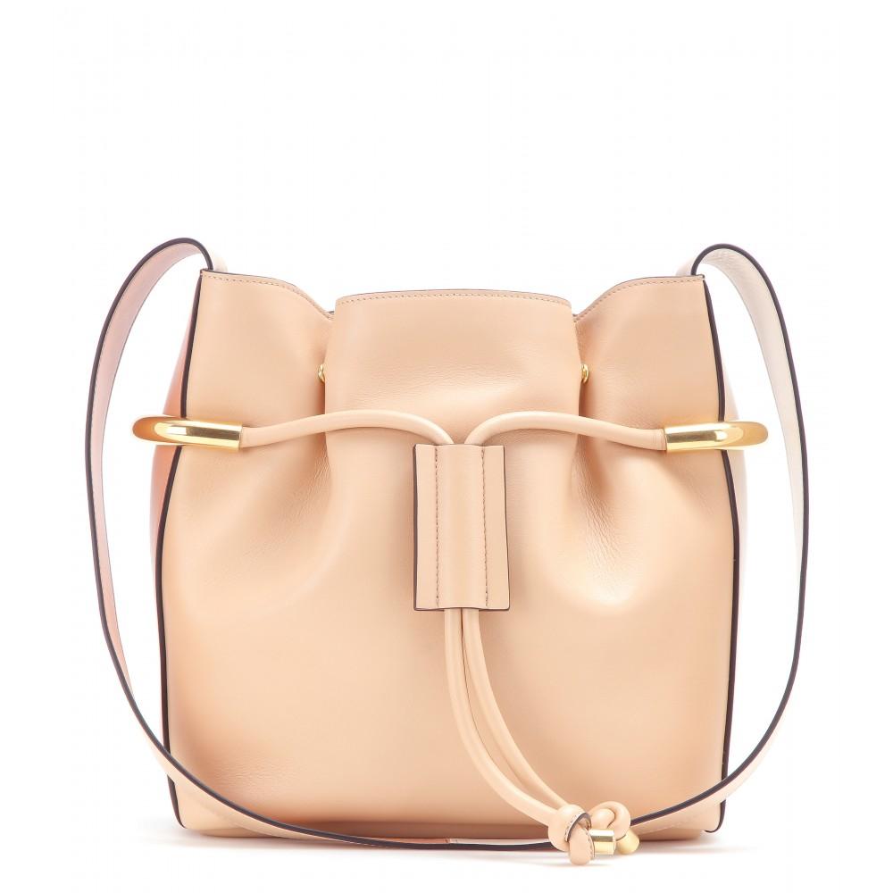 chloe black and white bag - Chlo�� Emma Leather Shoulder Bag in Pink (blush nude height 28cm ...