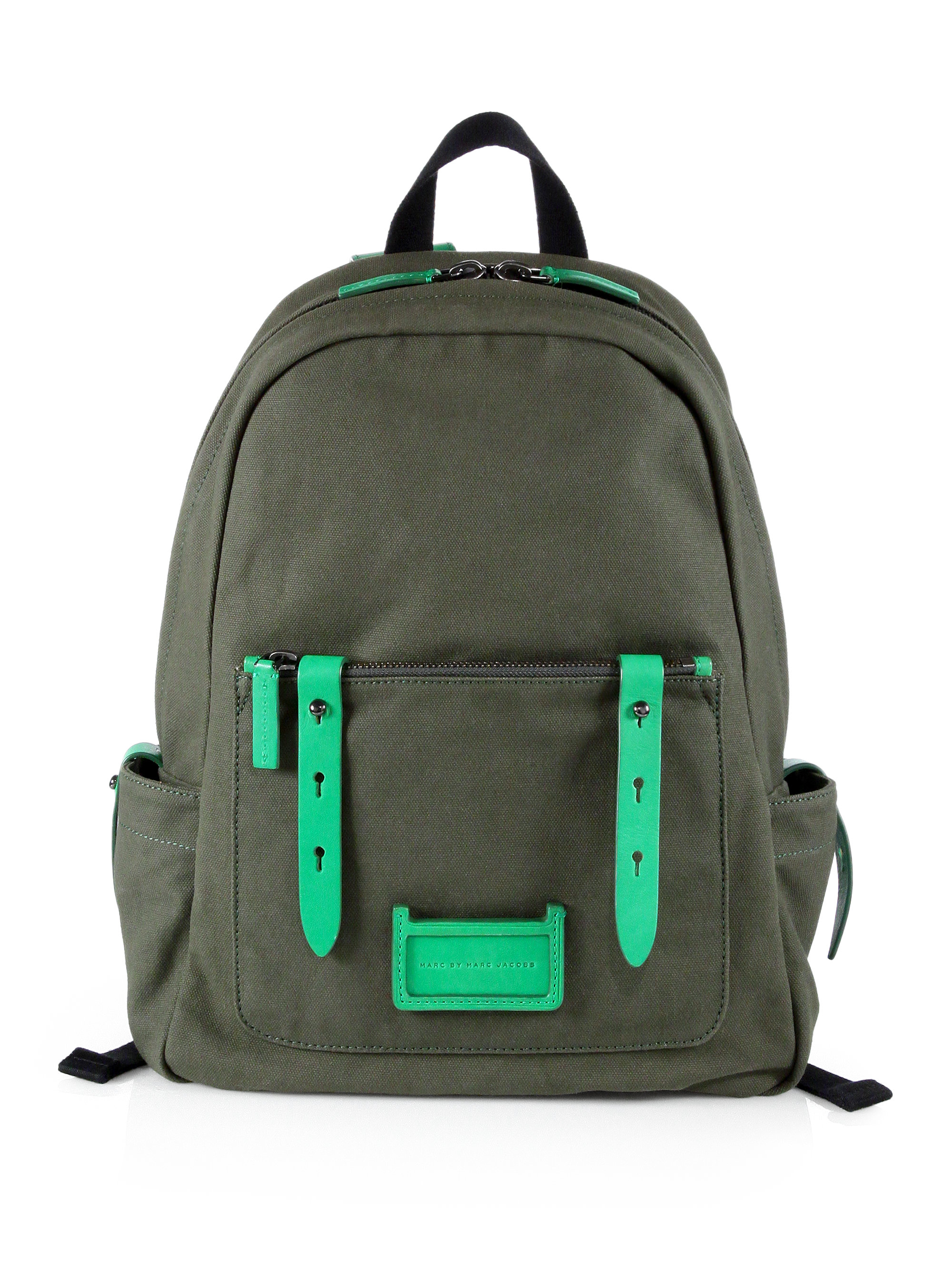 8427a18440ff Lyst - Marc By Marc Jacobs Canvas Leather Backpack in Green for Men