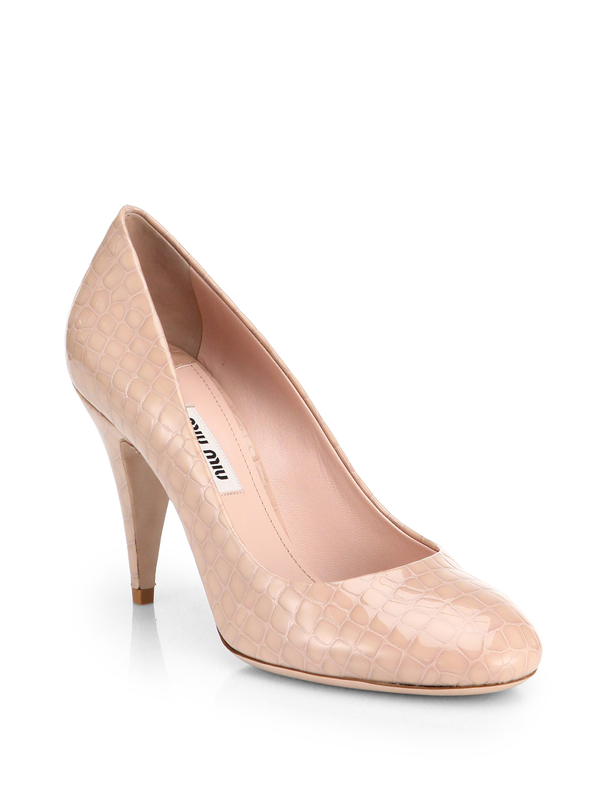 Miu Miu Embossed Leather Pumps fast delivery online discount with credit card outlet authentic sale how much JBdBI0OERj