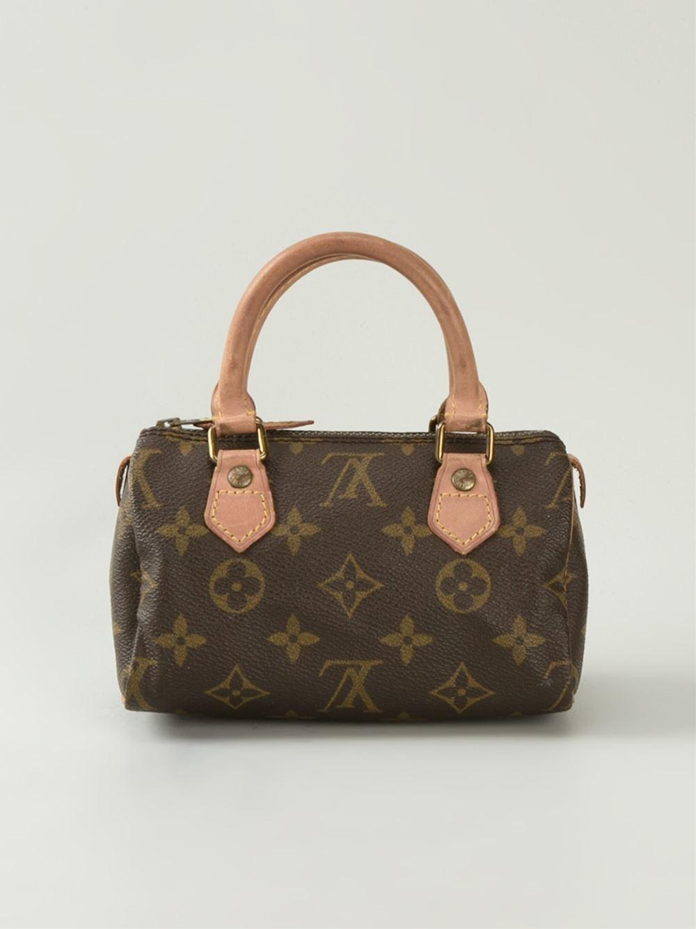 Louis Vuitton Mini Boom Print Bowling Bag In Brown Lyst