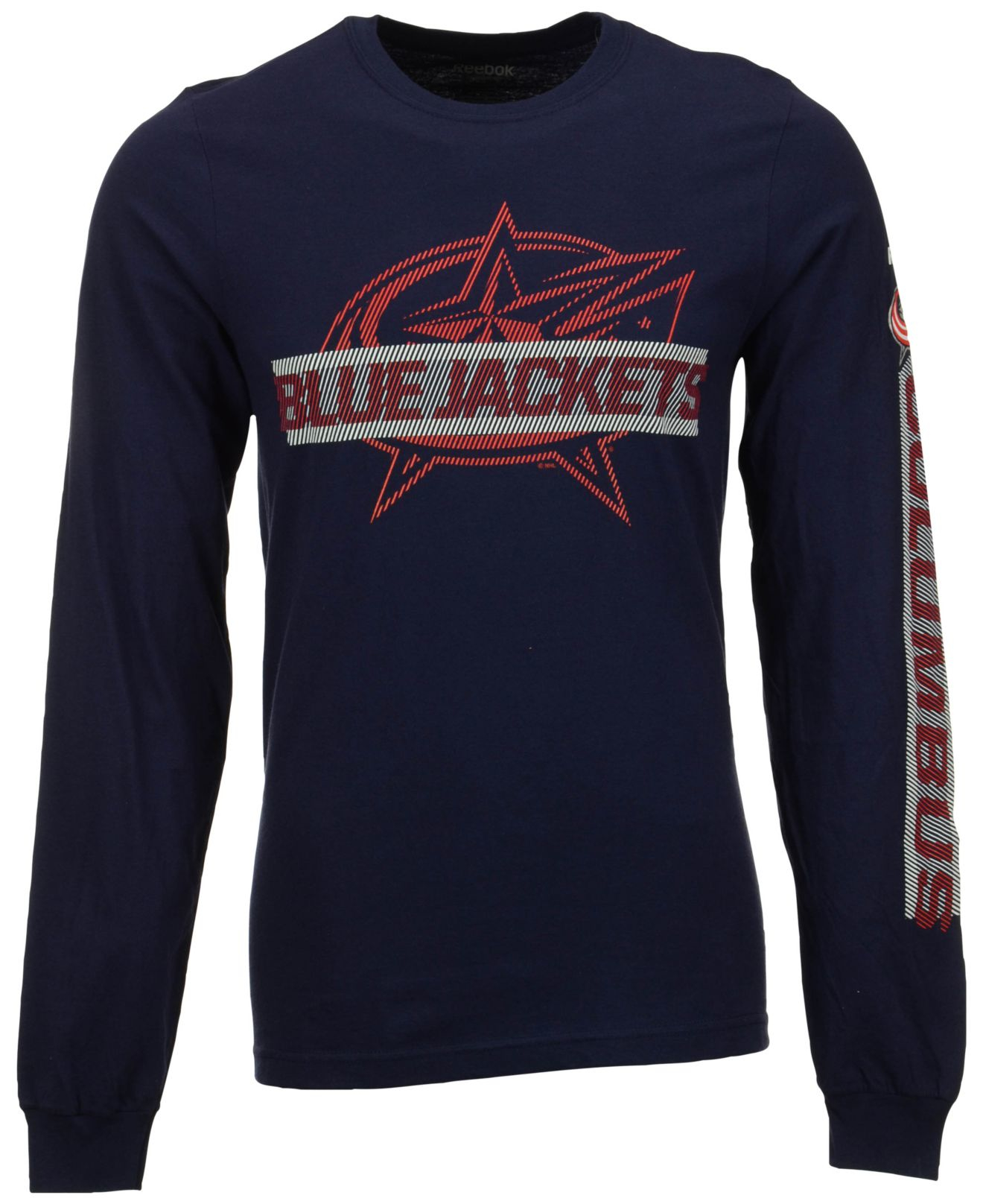 Reebok Men's Long-sleeve Columbus Blue Jackets Lineup T-shirt in ...