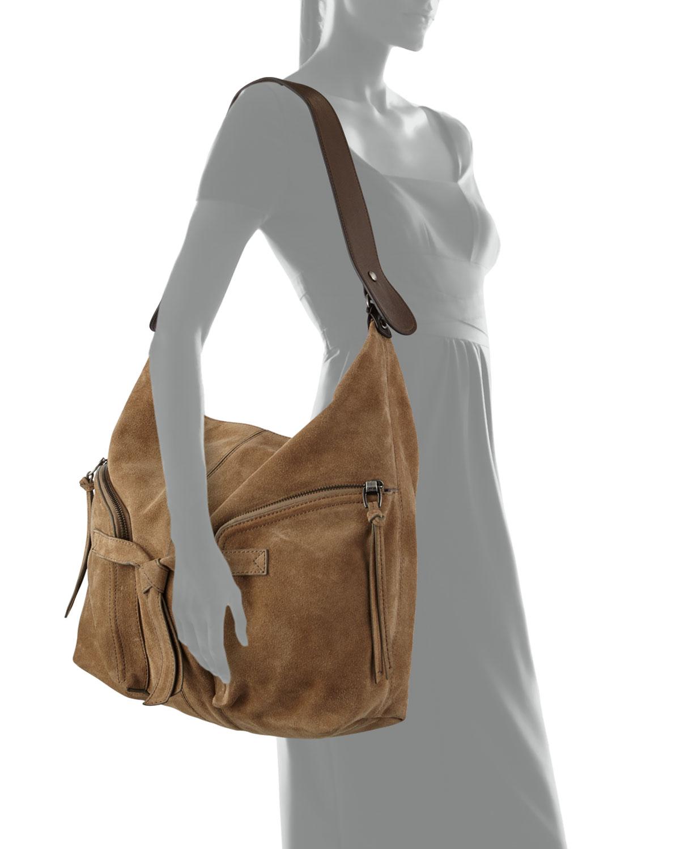 Kooba Farrah Suede Hobo Bag in Brown | Lyst