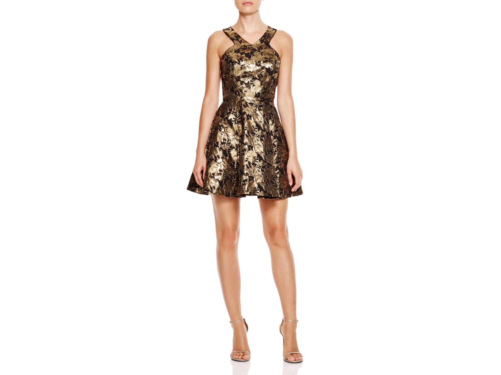 Lyst Aqua Midas Floral Brocade Dress Bloomingdale S