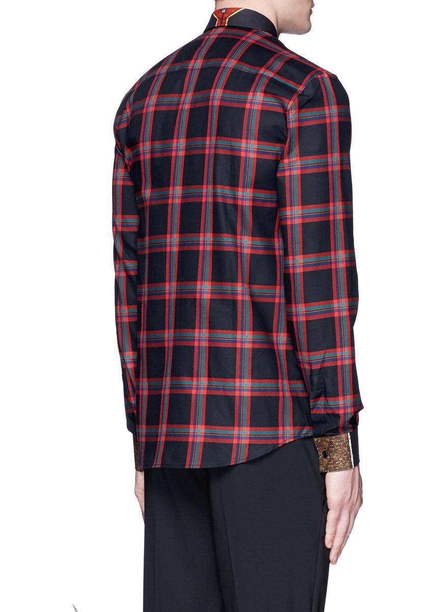 Black And Red Plaid Shirt Men