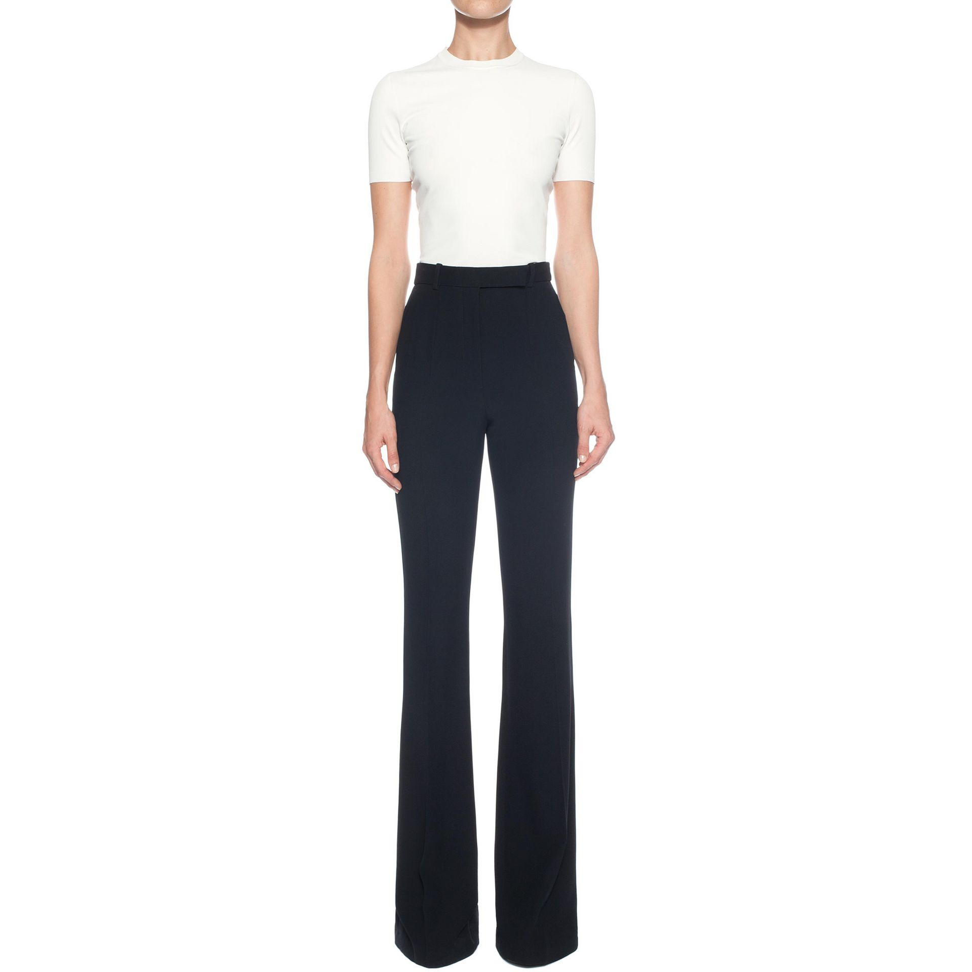 146c6325fca Alexander McQueen Highwaisted Bootcut Trousers in Black - Lyst