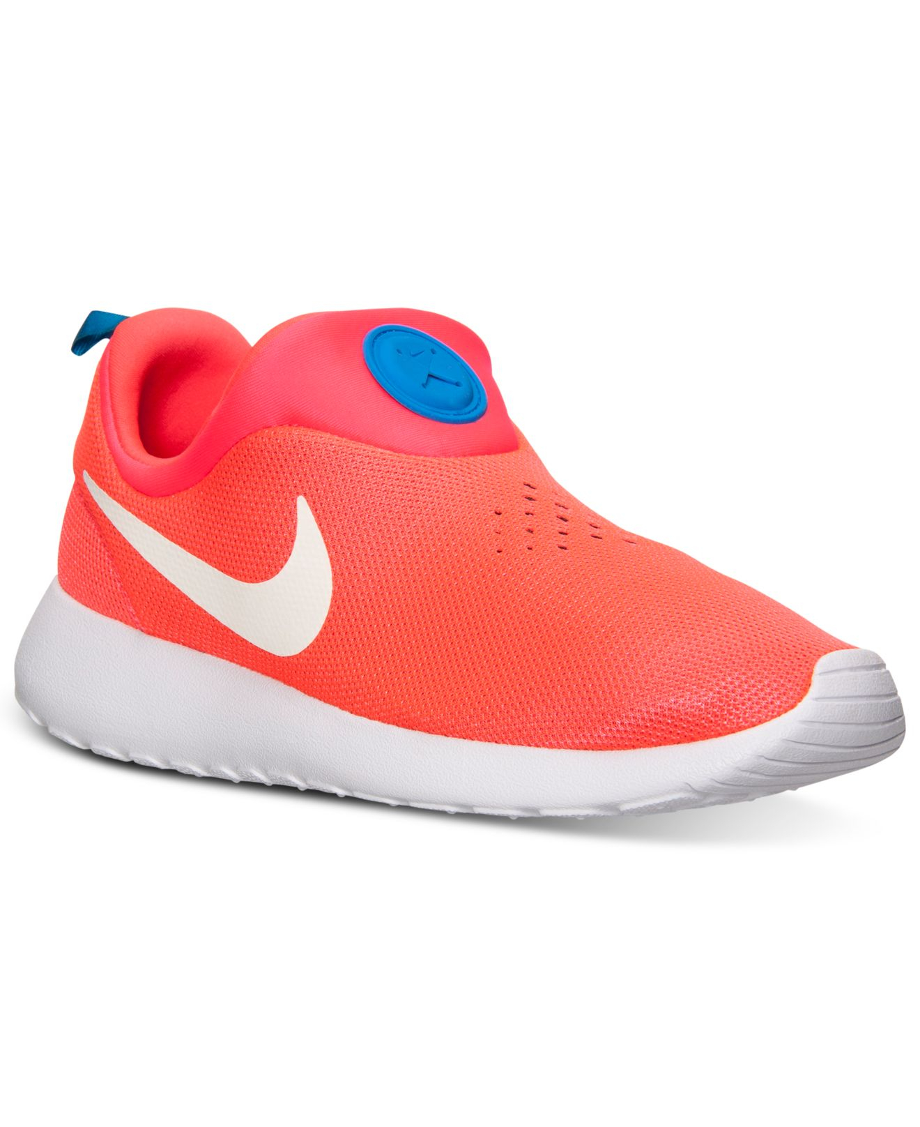 competitive price aef9b 95c49 Nike Men S Roshe Run Slip On Casual Sneakers From Finish Line in Red ...