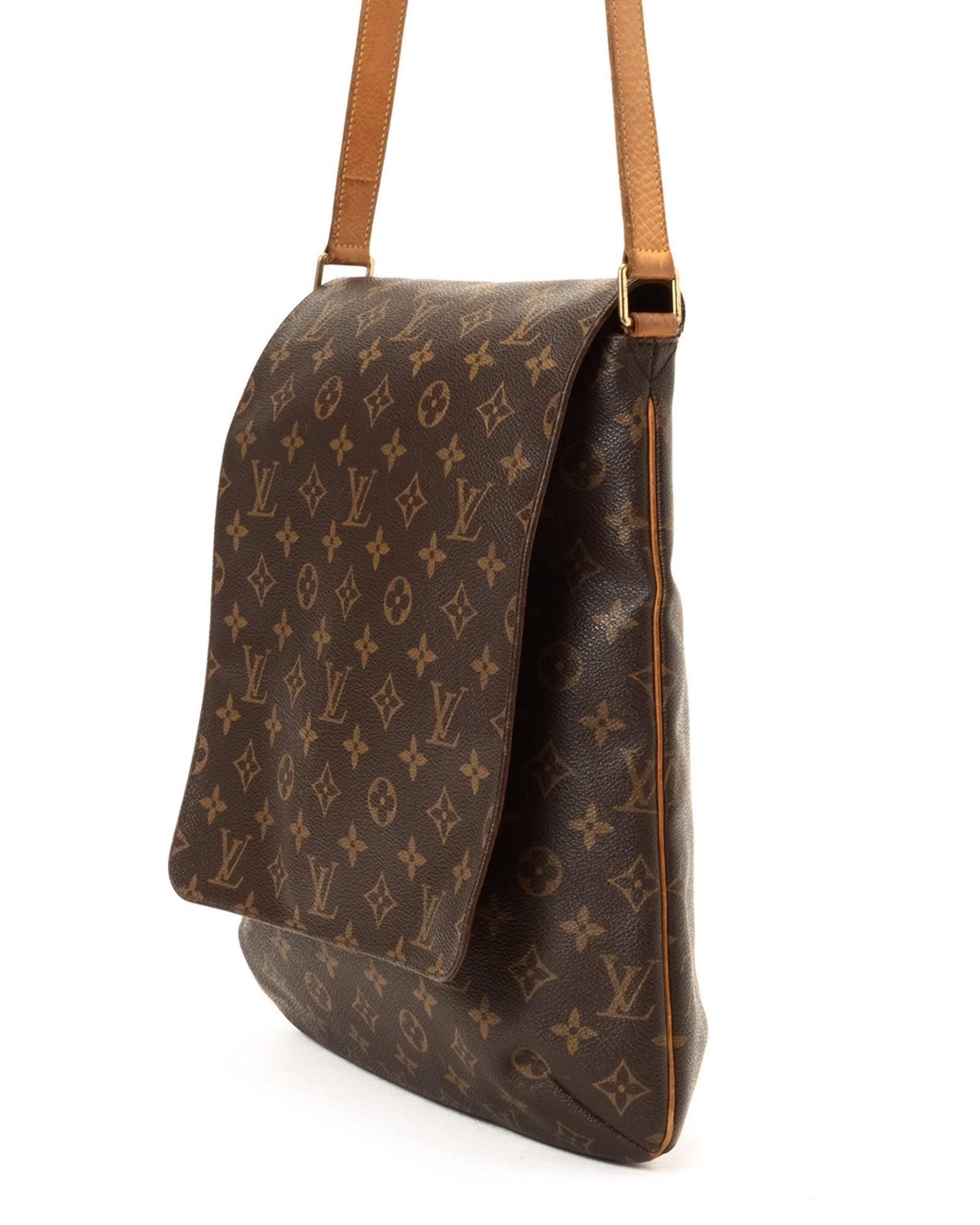 86c3cd450815 Lyst - Louis Vuitton Brown Shoulder Bag - Vintage in Brown