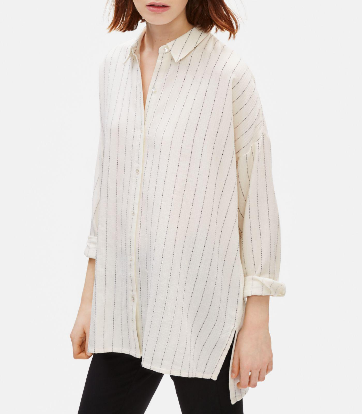eefaef5c20717c ... White Gauzy Organic Cotton Shirt - Lyst. View fullscreen