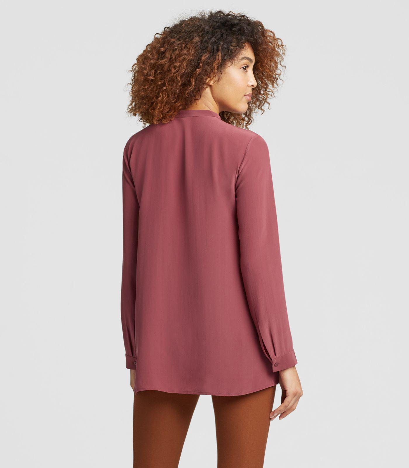 fe7f8bd3500e0 Eileen Fisher - Red Silk Crepe De Chine A-line Shirt - Lyst. View fullscreen