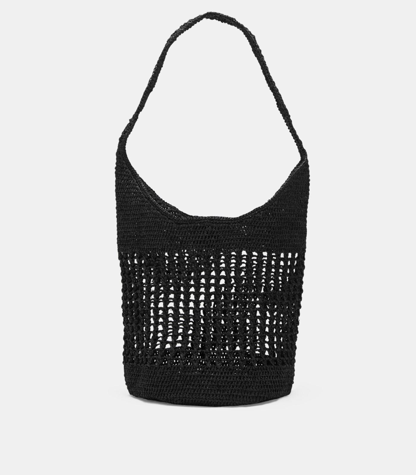 2b76edce33b52 Lyst - Eileen Fisher Mar Y Sol Crocheted Raffia Shoulder Bag in Black