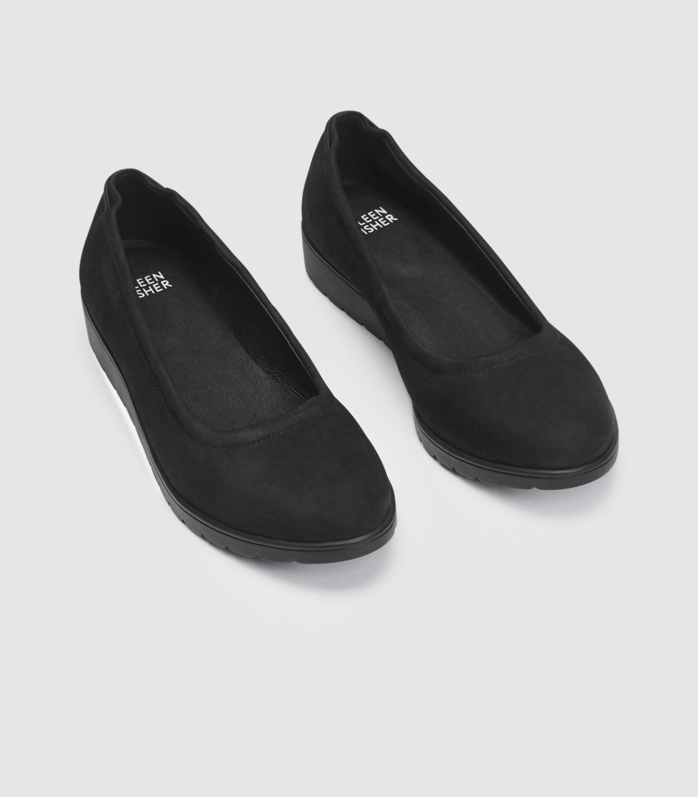 aae590b35c0 Eileen Fisher - Black Honest Nubuck Ballet Wedge - Lyst. View fullscreen