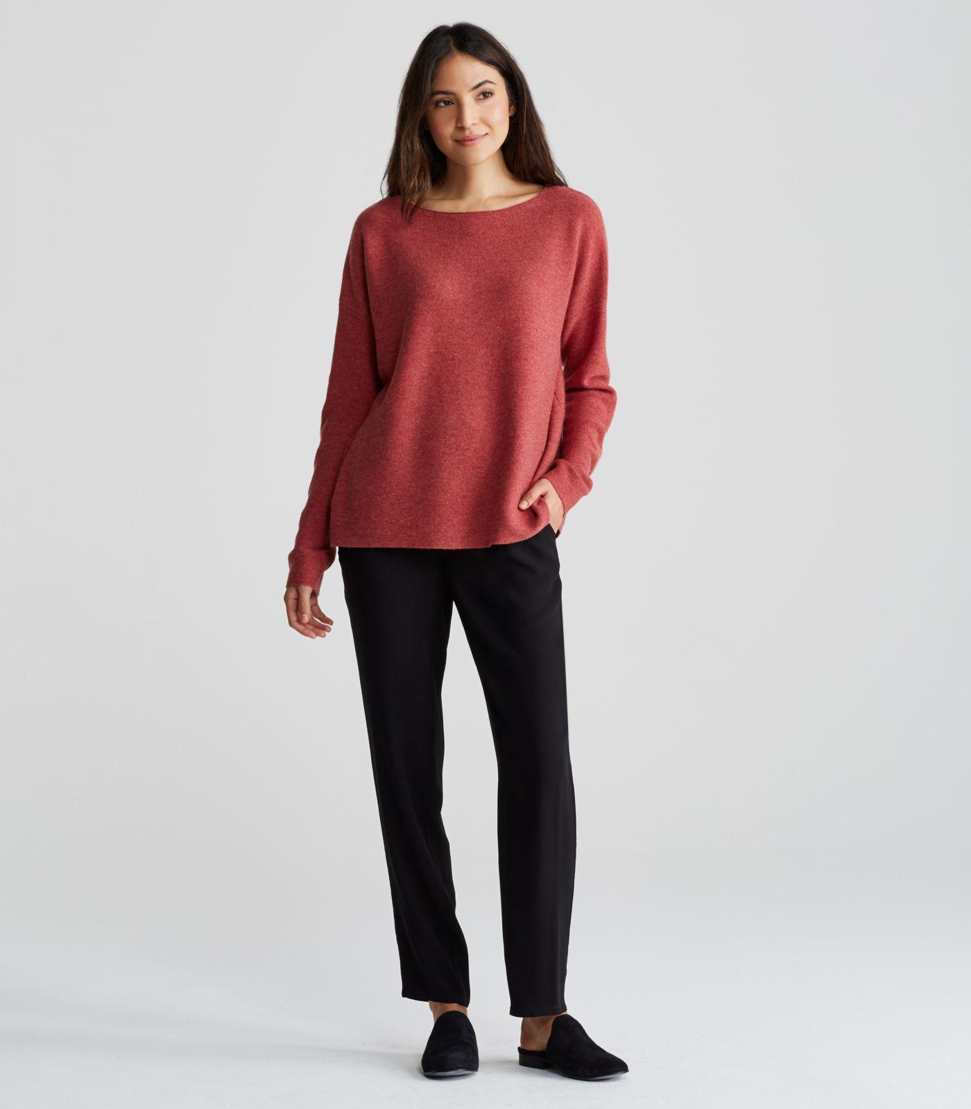 530694f573a86e Eileen Fisher Fine Cashmere Box-top in Red - Lyst