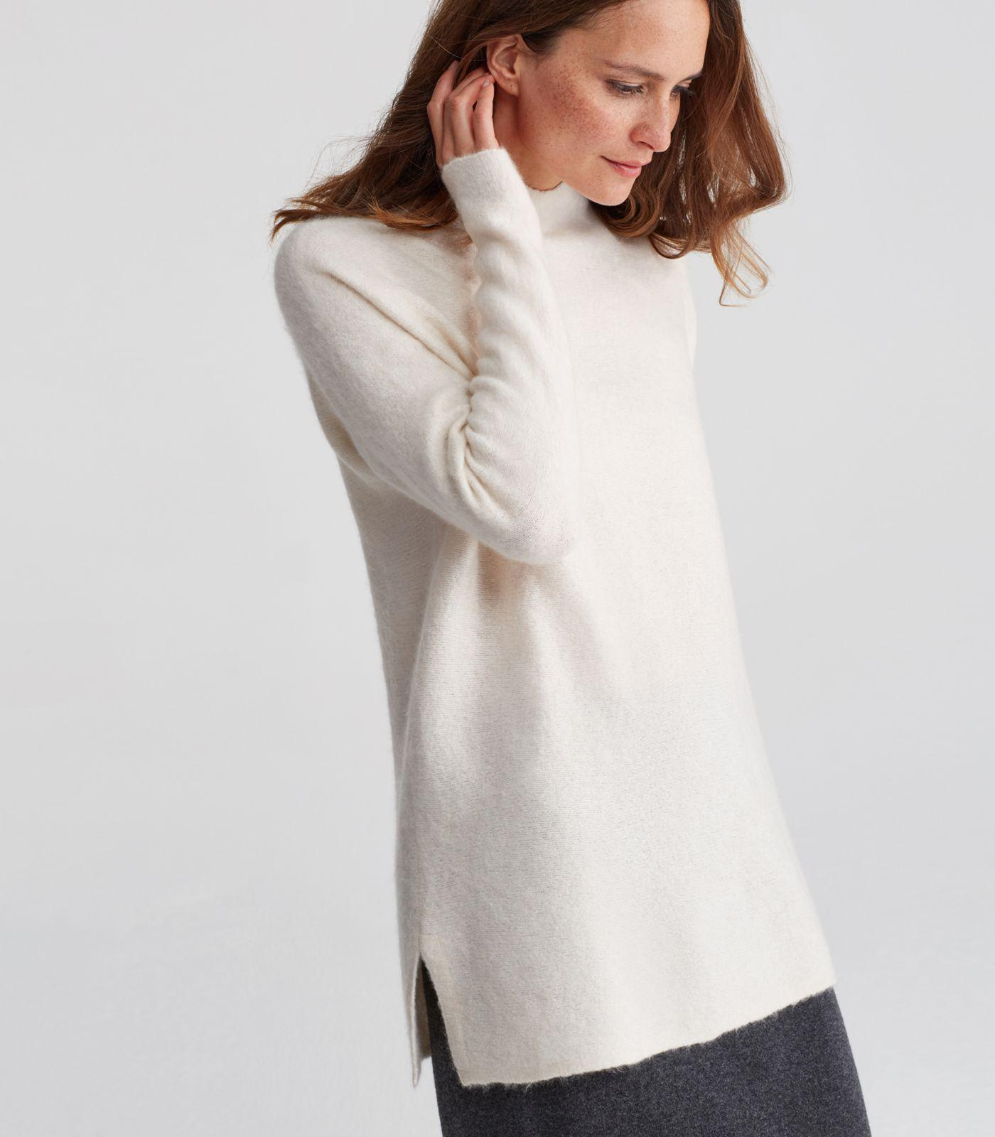fca997c50d9 Eileen Fisher Cashmere Silk Bliss Tunic Sweater - Lyst