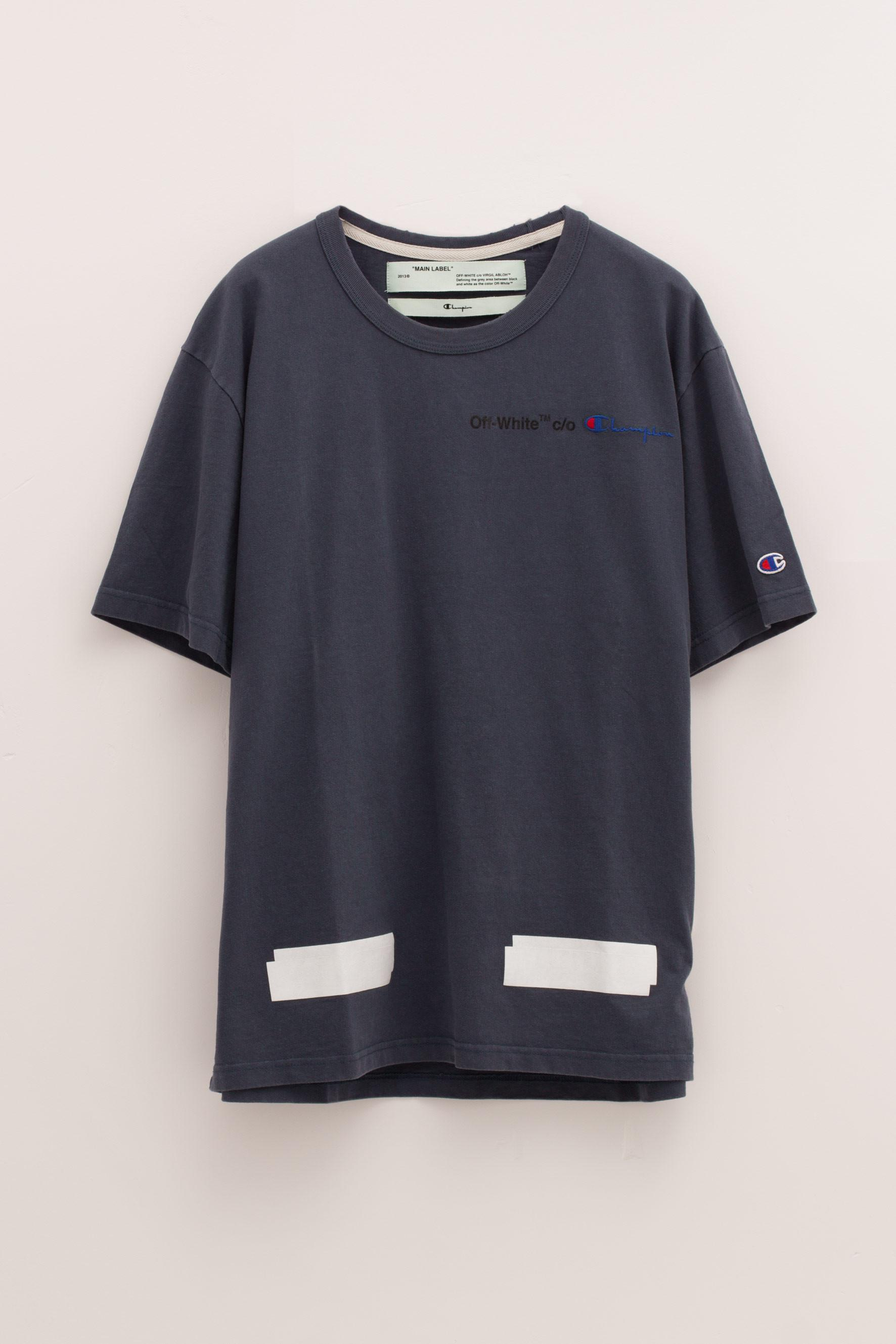637ed136 Off-White c/o Virgil Abloh Champion Tee in Blue - Lyst