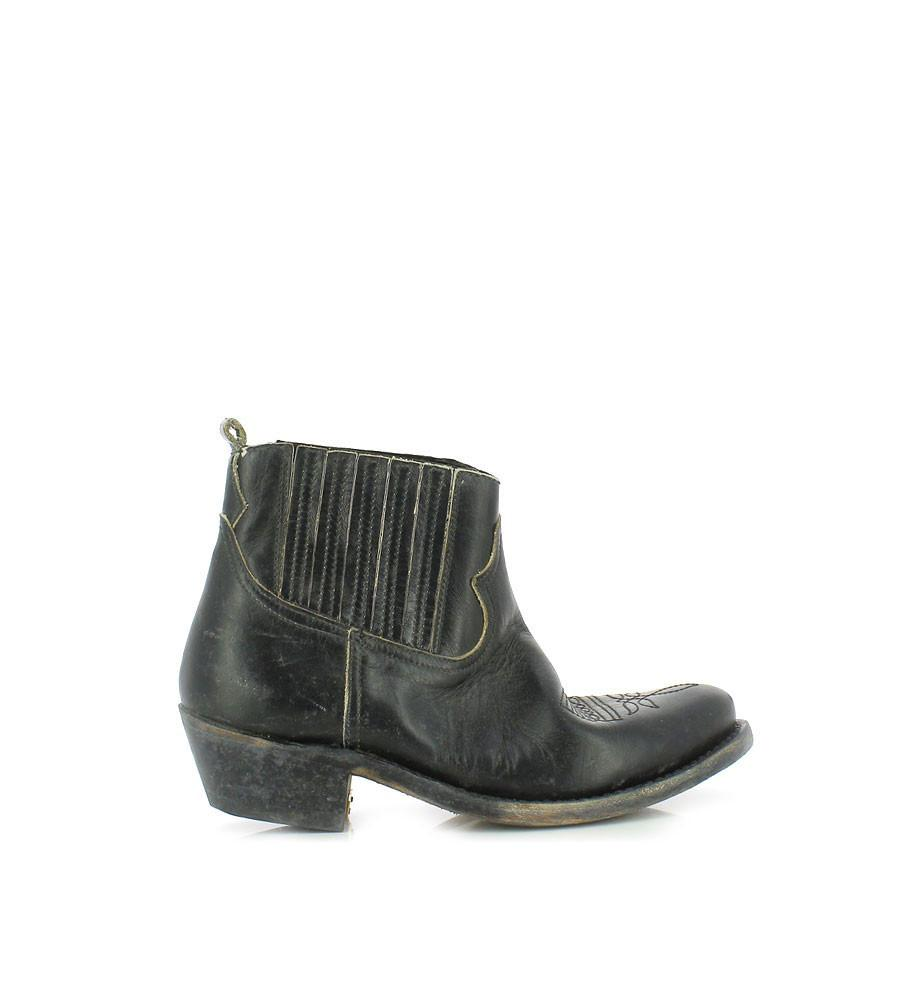 Golden goose deluxe brand Crosby Leather Ankle Boots in Black ...