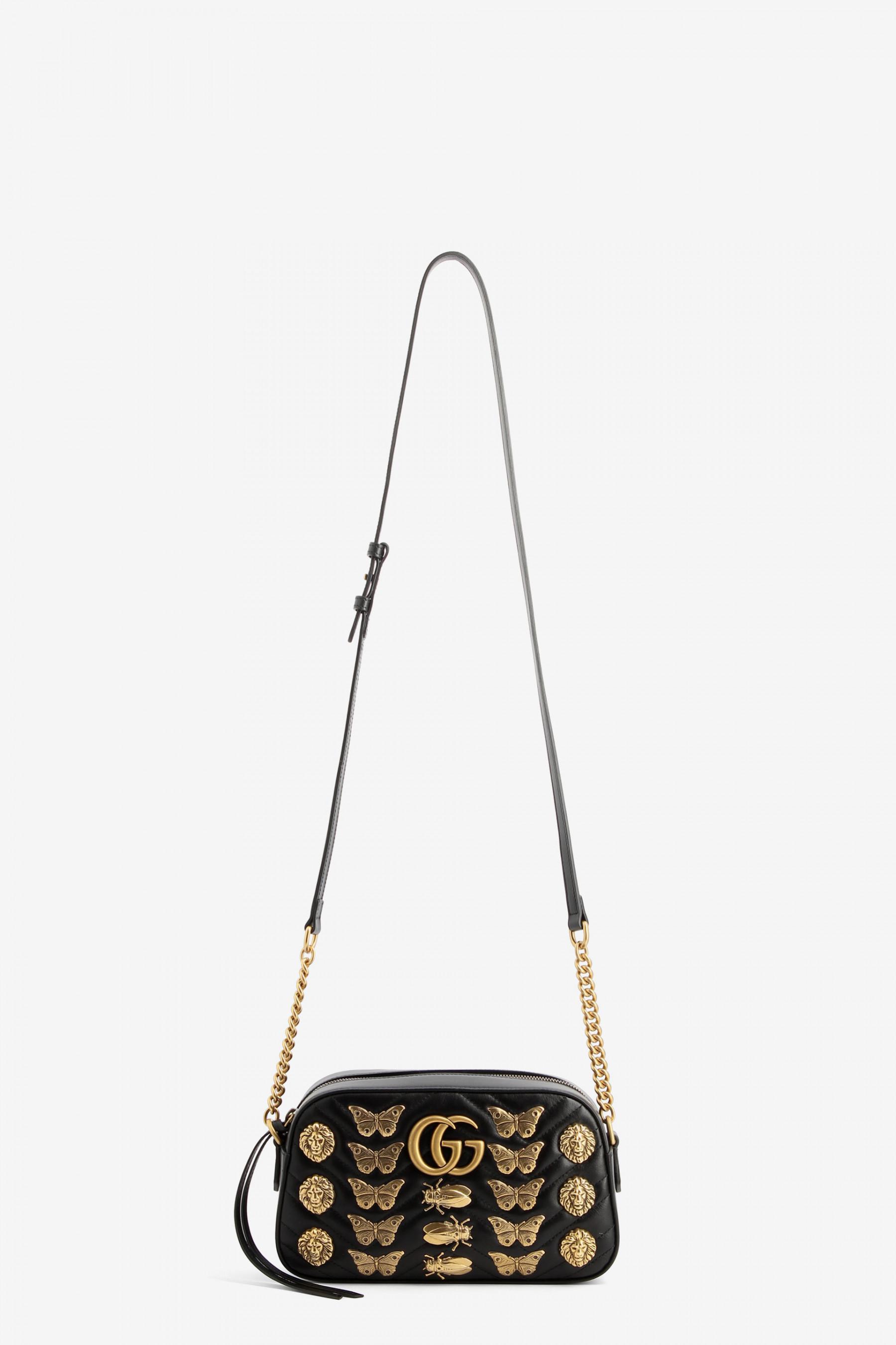 44494feb551e Lyst - Gucci Marmont Animals Bag in Black
