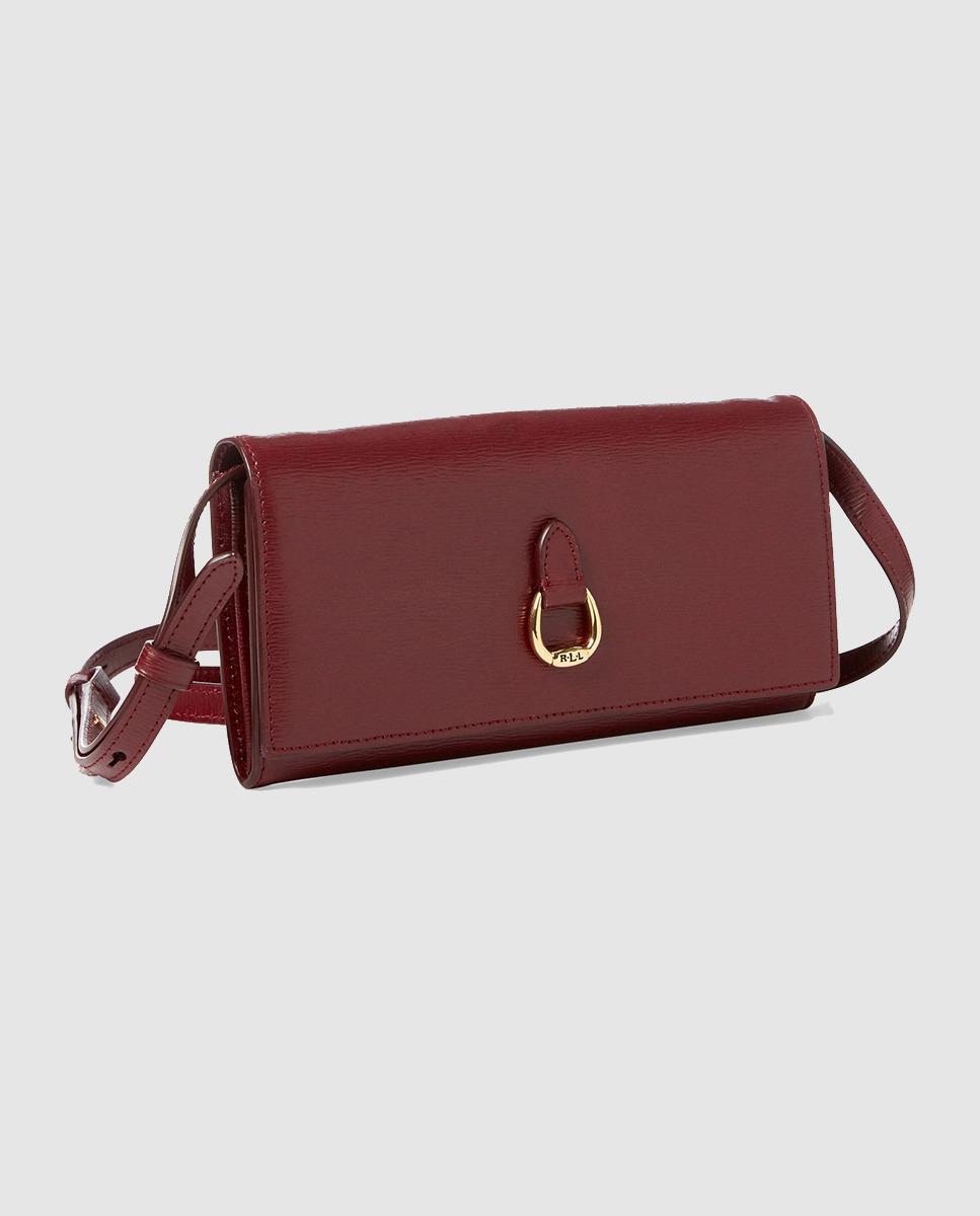 Lyst - Lauren By Ralph Lauren Burgundy Leather Mini Crossbody Bag 400f1366e44fd