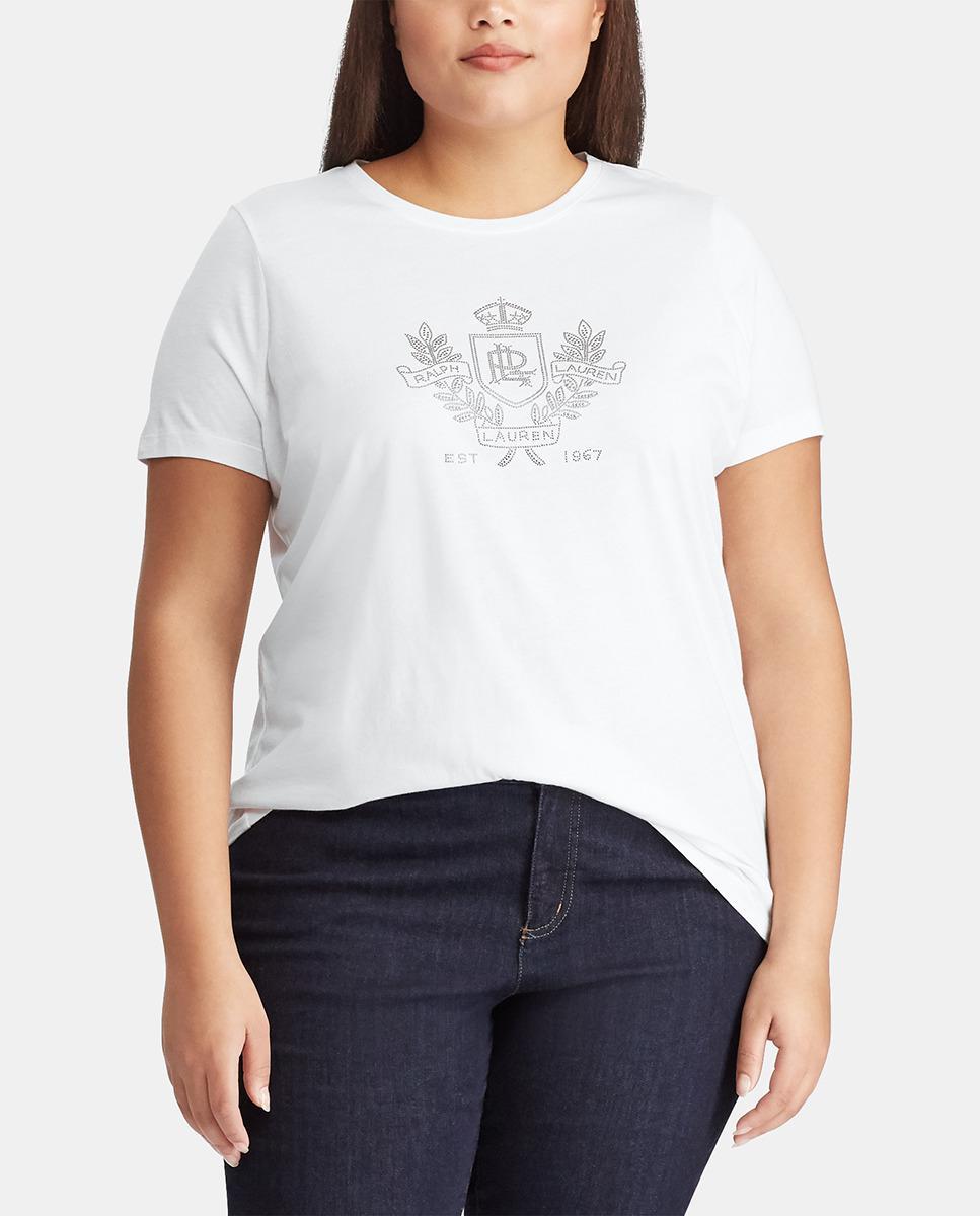 1ebacee1e98 Denim   Supply Ralph Lauren. Women s White Plus Size Short Sleeve Crew Neck  T-shirt