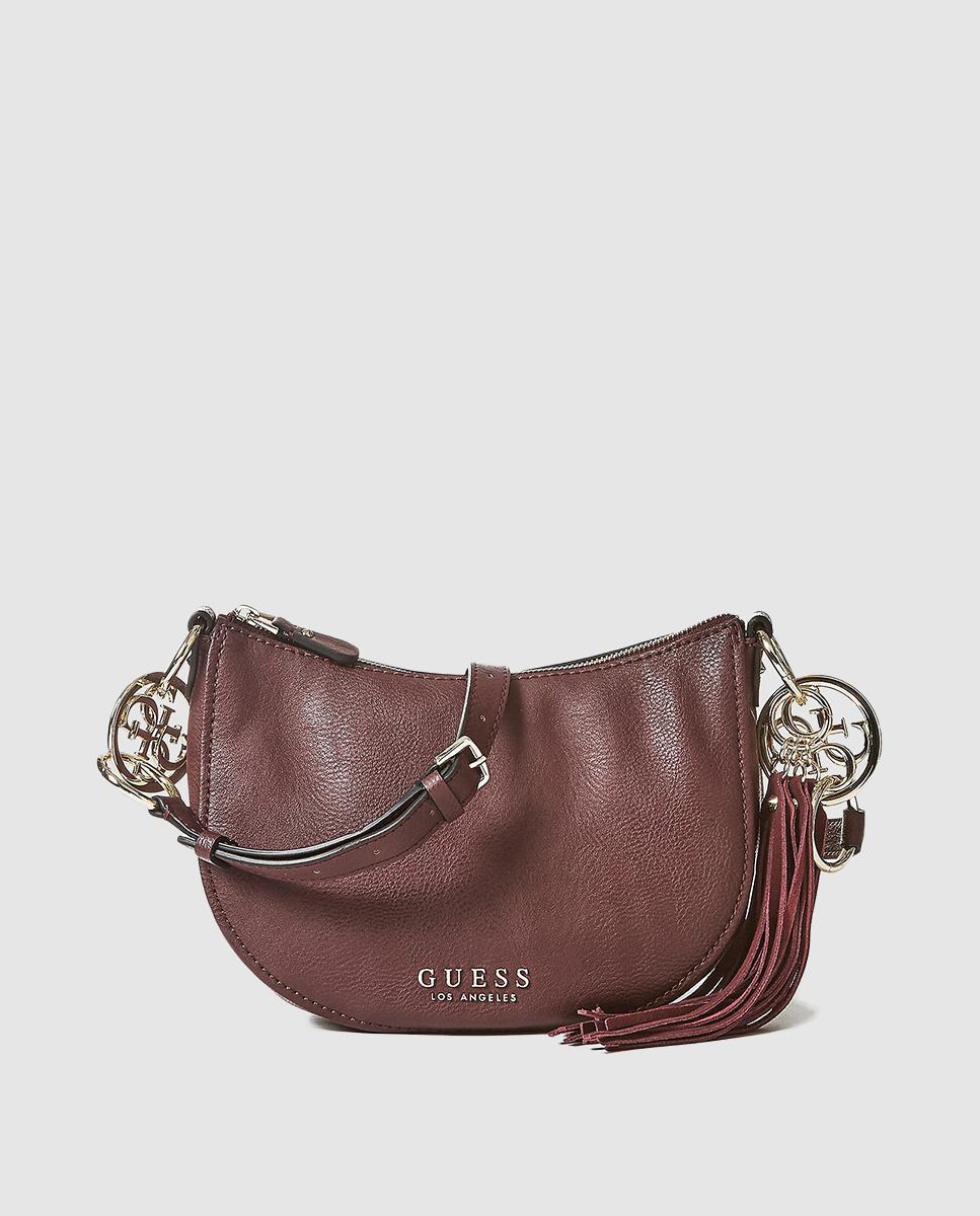 b11616258c7c Guess Burgundy Crossbody Bag With Matching Tassel in Purple - Lyst