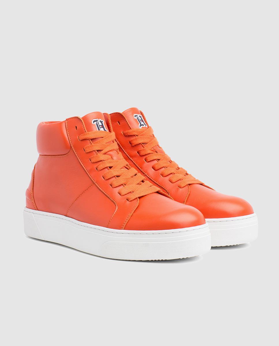 d0d4bfe1d193 Tommy Hilfiger Lewis Hamilton Orange Leather Lace-up Trainers in Orange for  Men - Save 54% - Lyst