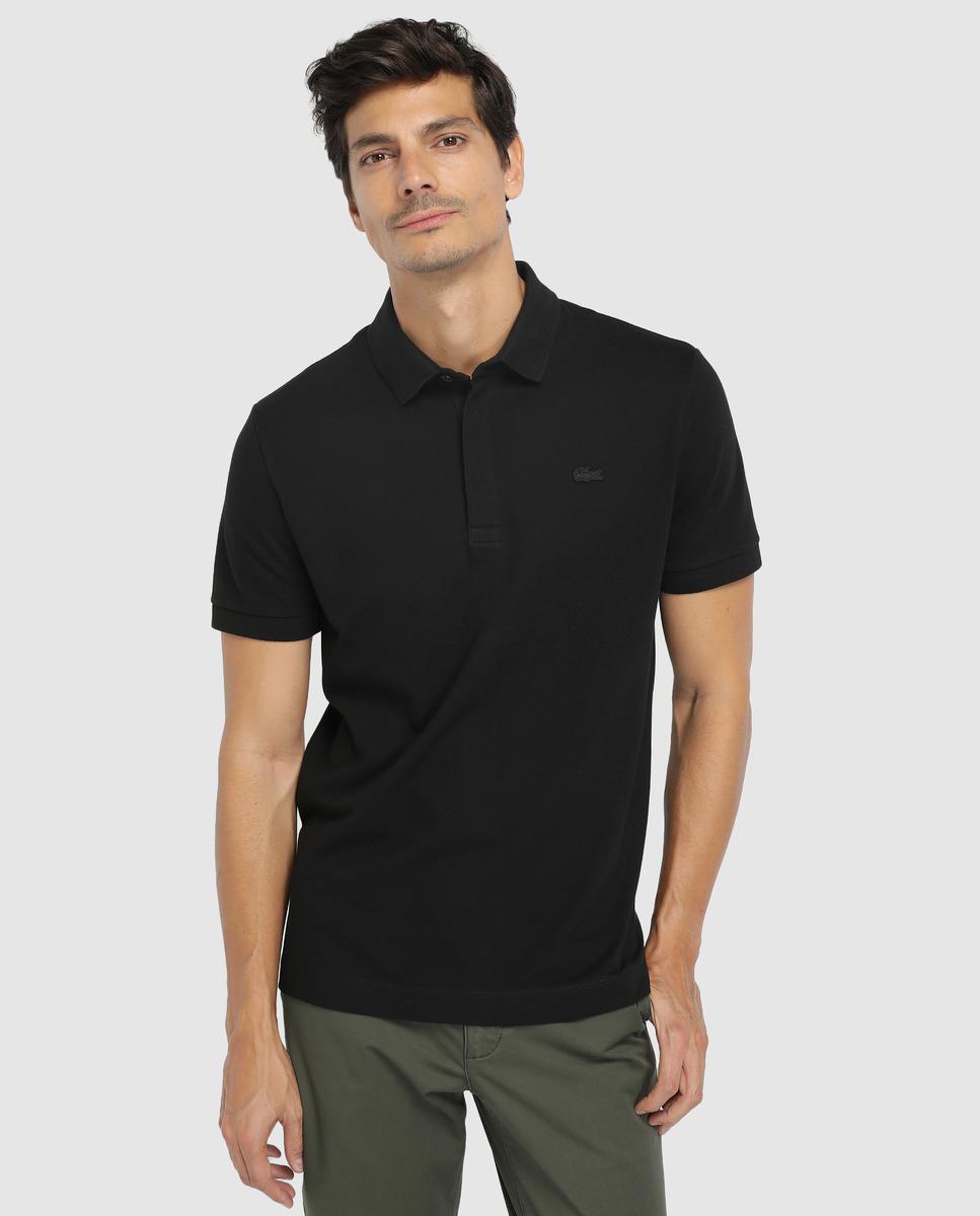 db29e77b92e3 Lacoste Black Short Sleeve Piqué Polo Shirt in Black for Men - Lyst