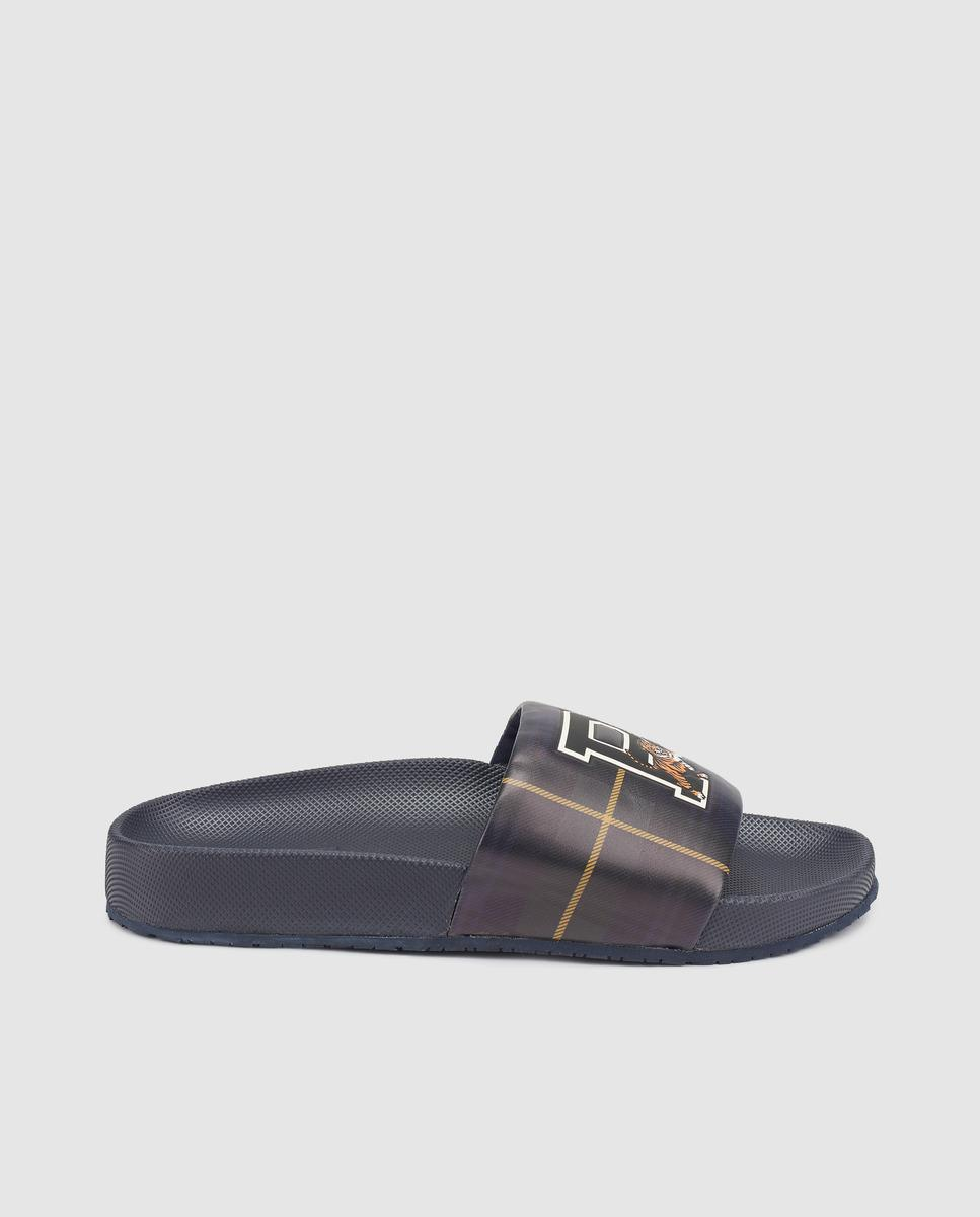 a845726d3 Polo Ralph Lauren Black Flip-flops With Letter And Tiger Print in ...