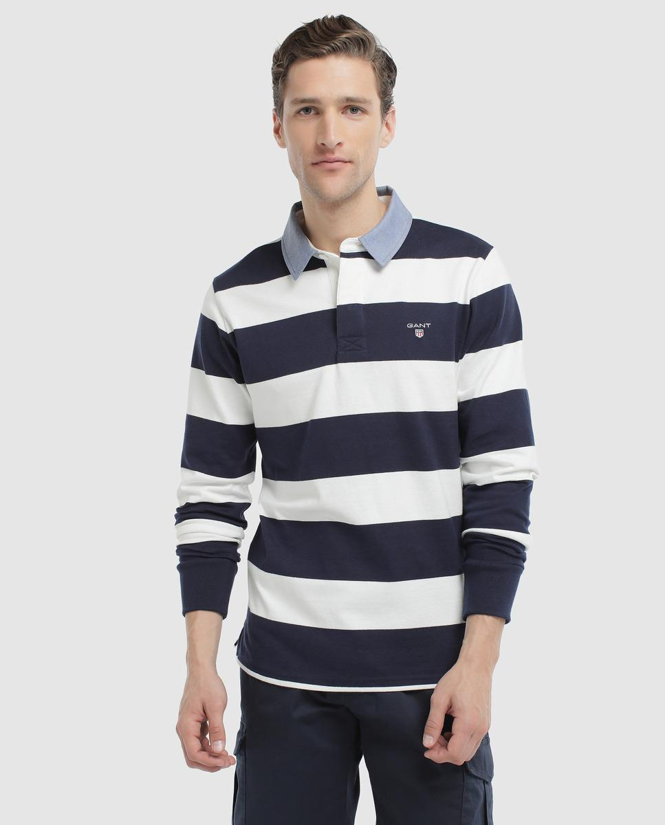 db6e0a07eee4 GANT Two-tone Long Sleeve Classic Polo Shirt in Blue for Men - Lyst