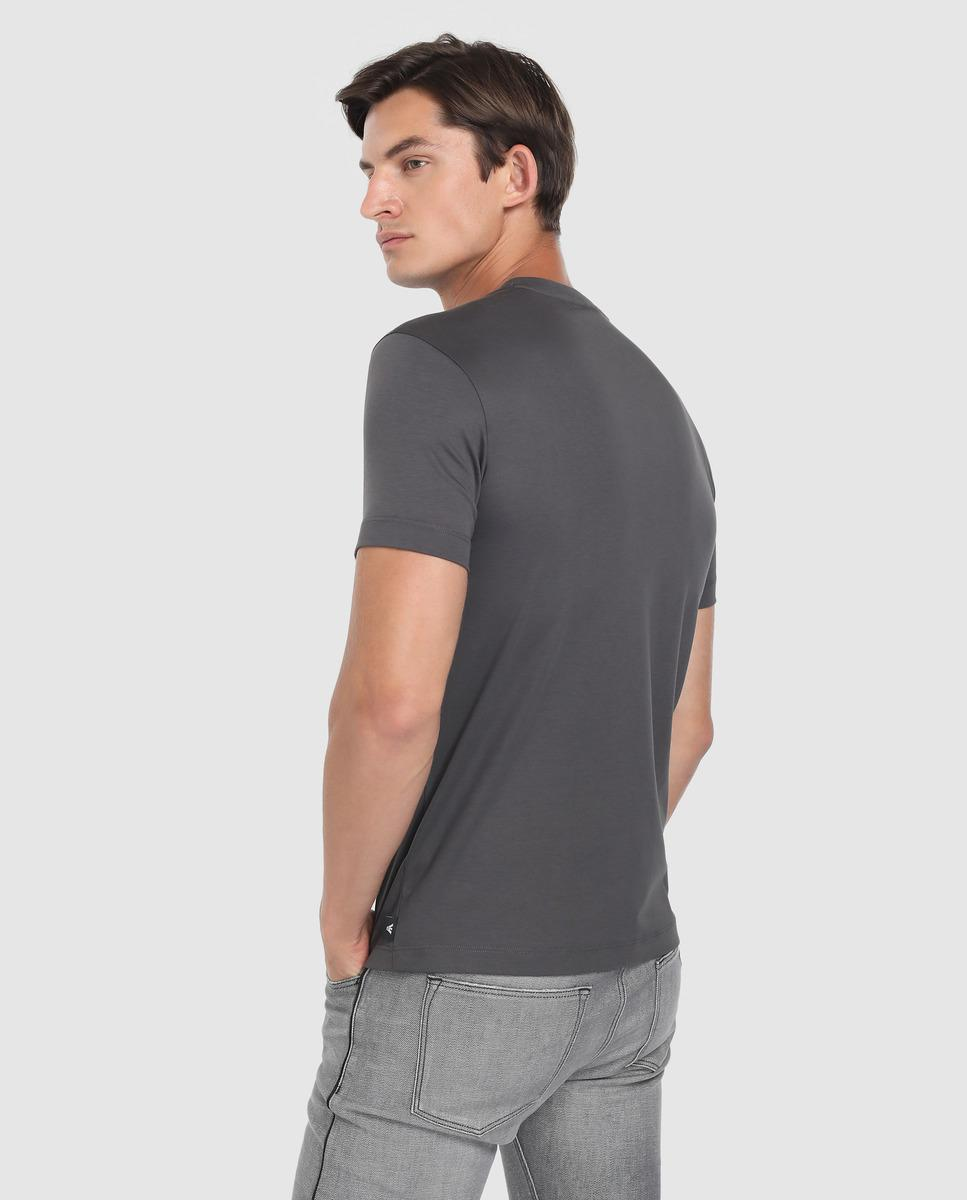 9955cdd9f10 Emporio Armani Mens Grey Short Sleeve T-shirt in Gray for Men - Lyst