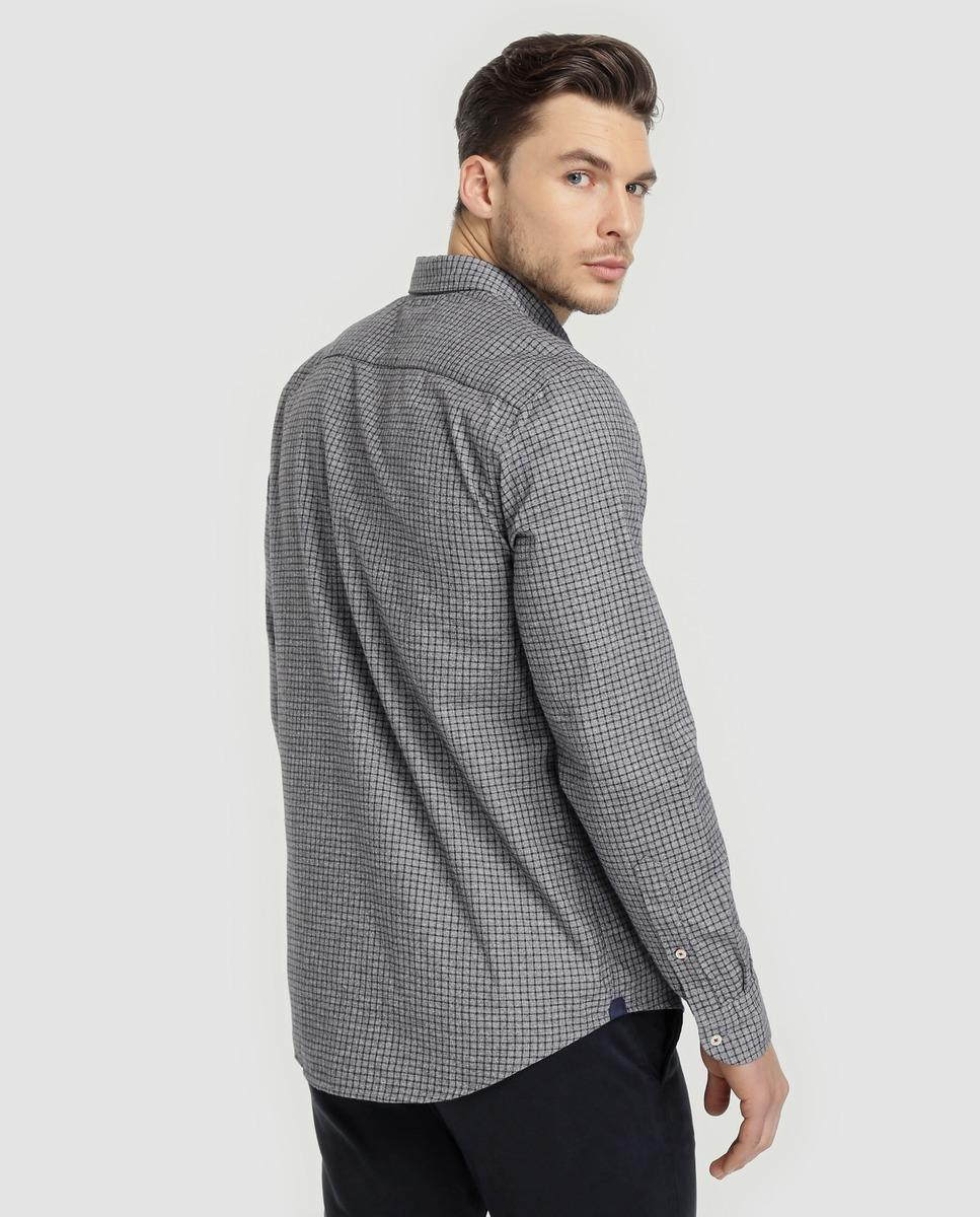 fb689aa7 Lyst - Tommy Hilfiger Regular-fit Two-tone Checked Shirt in Gray for Men