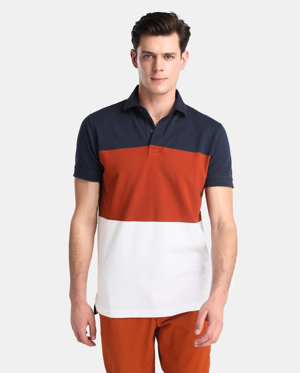 Lyst Tommy Hilfiger Block Short Sleeved Piqu Polo Shirt For Men
