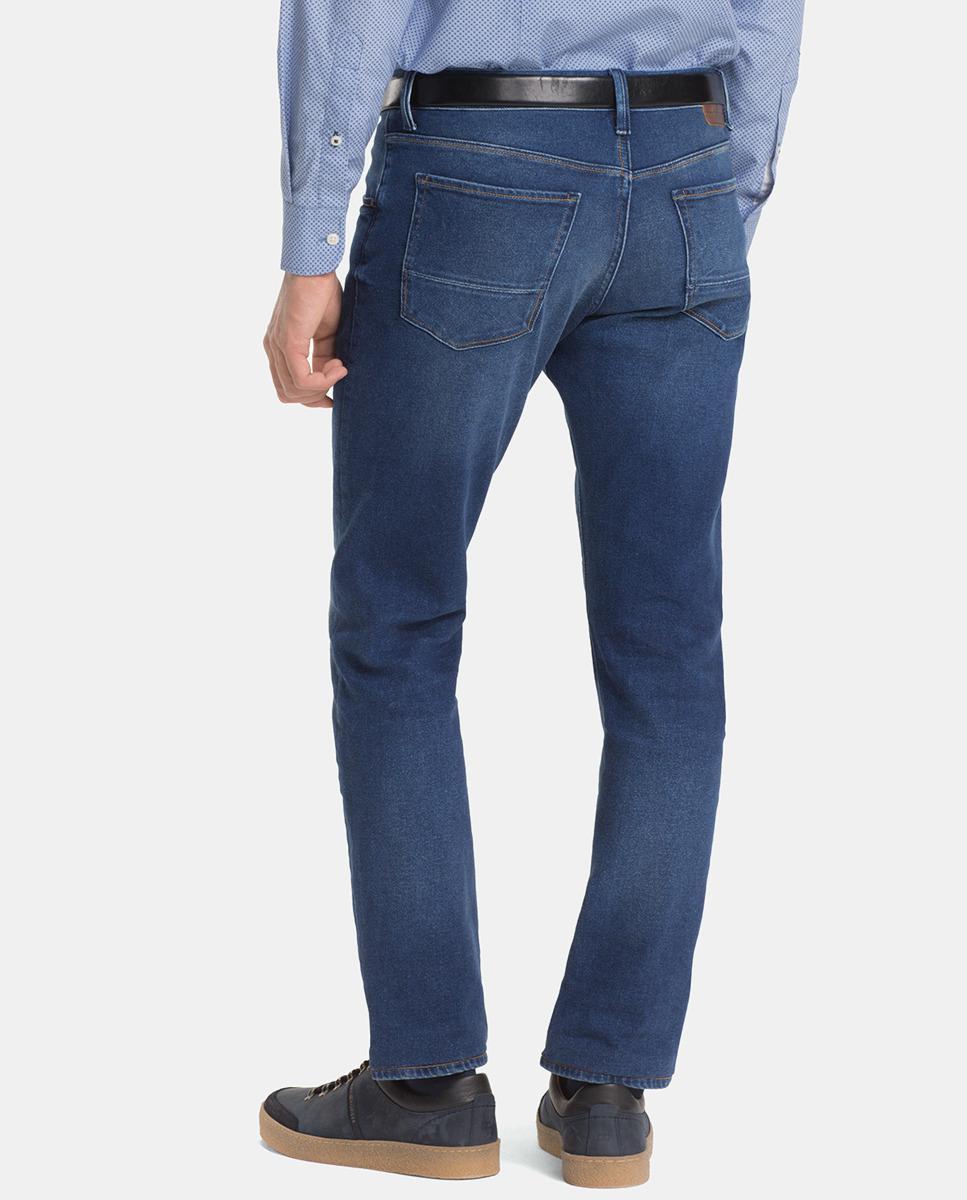 8256ff03 Tommy Hilfiger Slim-fit Blue Jeans in Blue for Men - Lyst