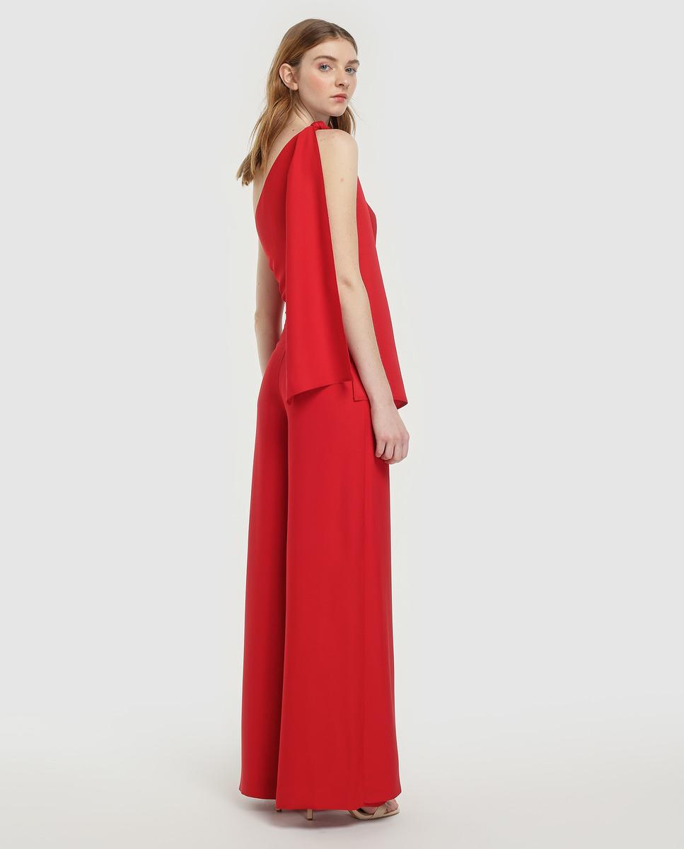 c48511bfcc1 Lyst - Green Coast Wo Asymmetric Jumpsuit With Tie in Red