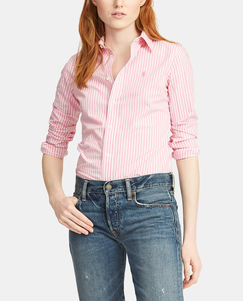 a4266d9514 Polo Ralph Lauren. Women's Wo Pink Striped 100% Cotton Shirt. £95 From El  Corte Ingles