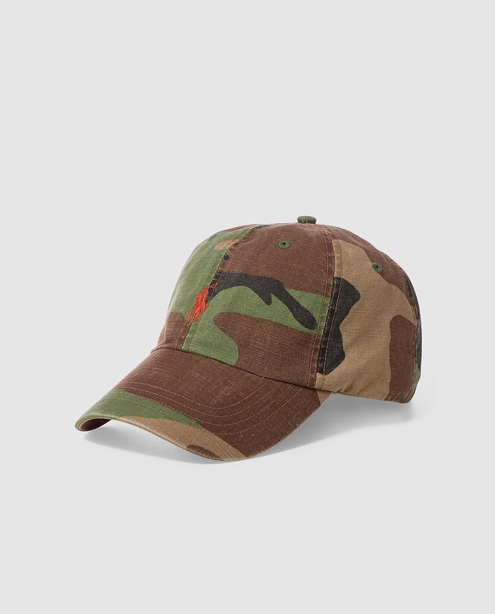 57de0452c3377 Polo Ralph Lauren Camouflage Print Cotton Baseball Cap for Men - Lyst