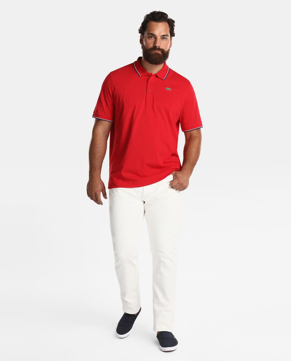 cfbd7b2d90 Lacoste Big And Tall Red Short-sleeve Polo Shirt in Red for Men - Lyst
