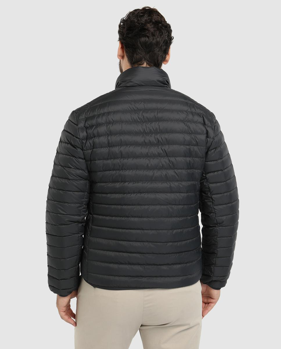 3f07d645a668d Lyst - Lacoste Big And Tall Black Lightweight Quilted Coat in Black for Men