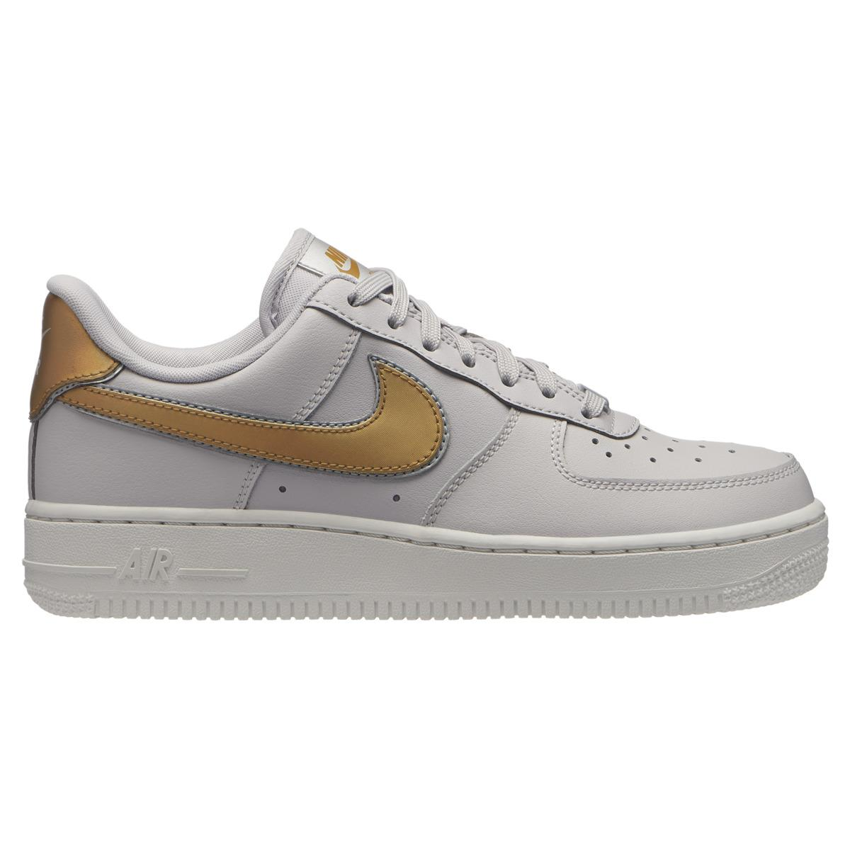 db93bee3c2234 Nike Air Force 1 07 Metallic Casual Trainers in White - Lyst