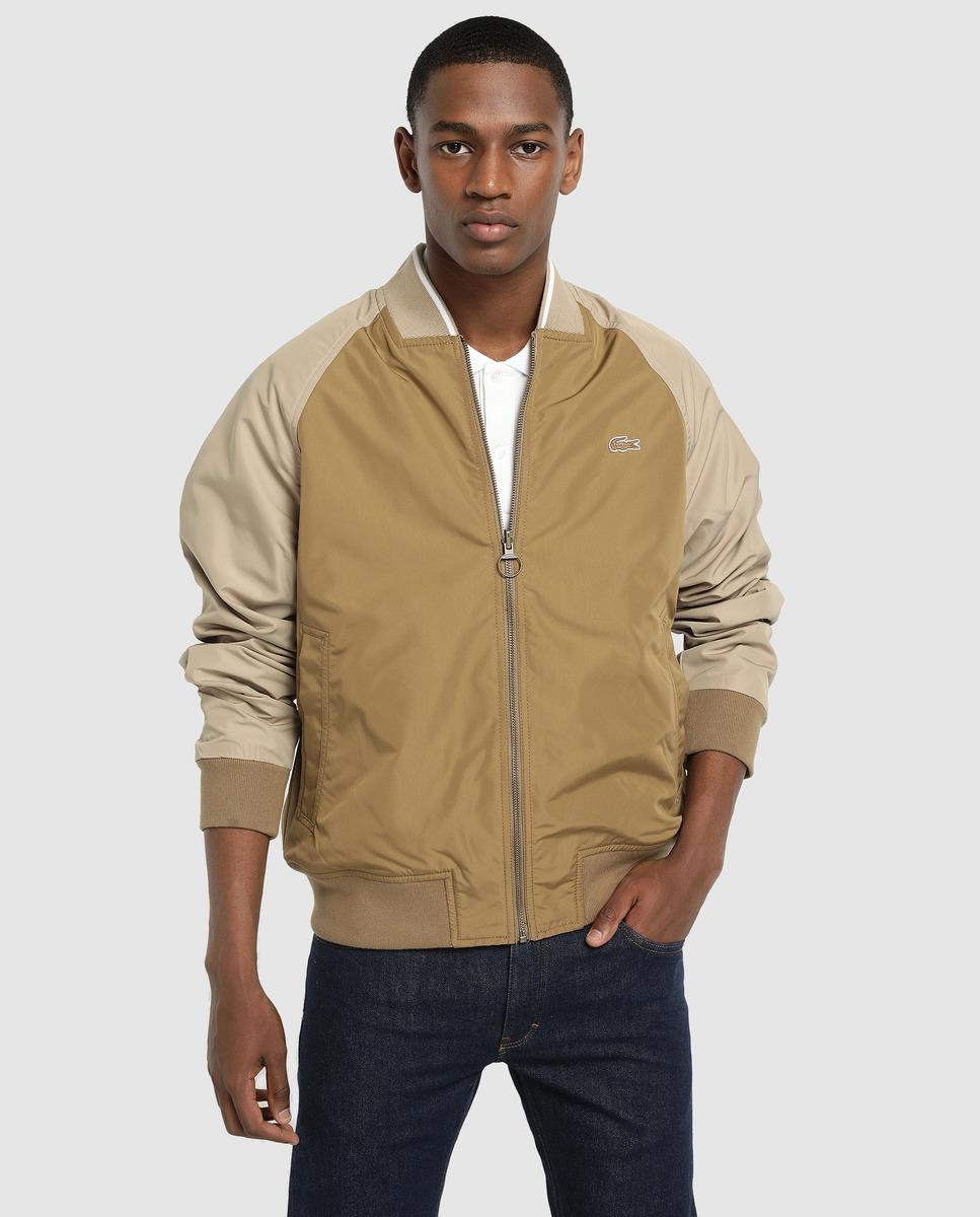 26b32e016 Lyst - Lacoste Two-tone Jacket With Two Outer Pockets in Natural for Men