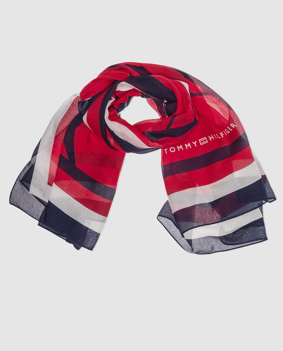 Mascot striped long scarf - Red Tommy Hilfiger Lau9FpT1y