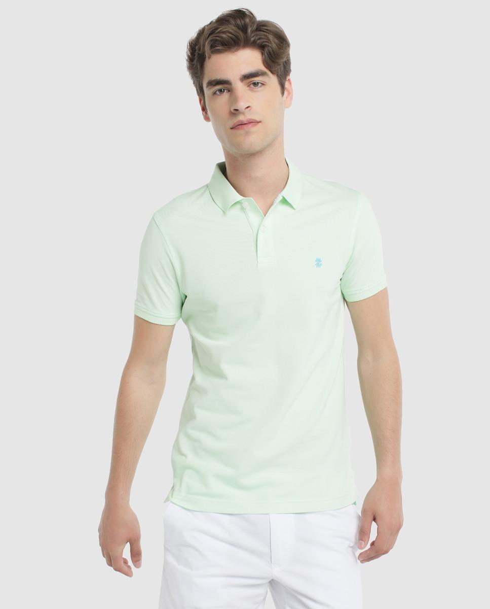 a05a3a9c0830 Izod - Regular-fit Green Short Sleeve Piqué Polo Shirt for Men - Lyst. View  fullscreen
