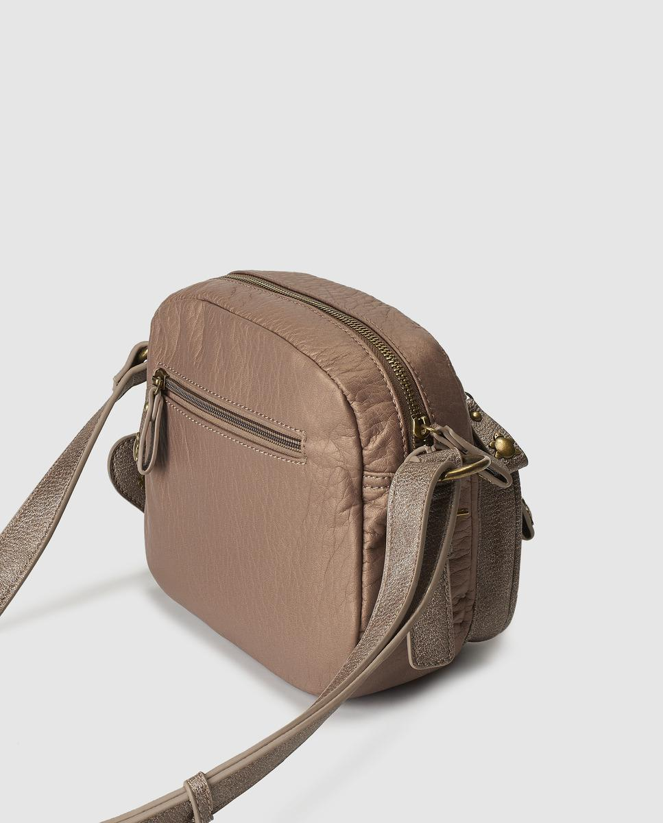 bfa9f136f1 Lyst - Caminatta Small Taupe Crossbody Bag With Outer Pockets in Brown