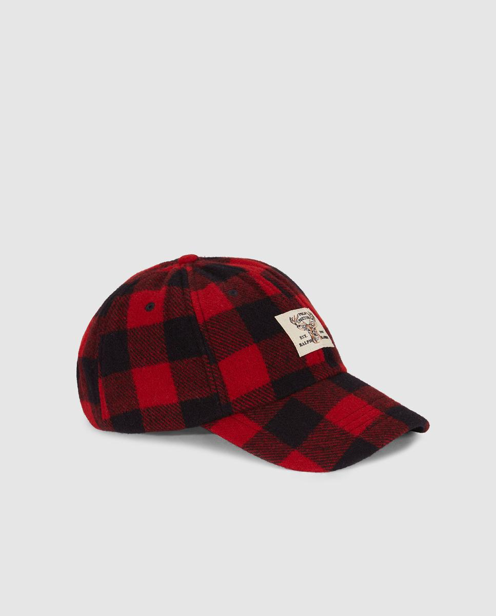 Lyst - Ralph Lauren Red Checked Cap in Red for Men 5574bfcfdfc9
