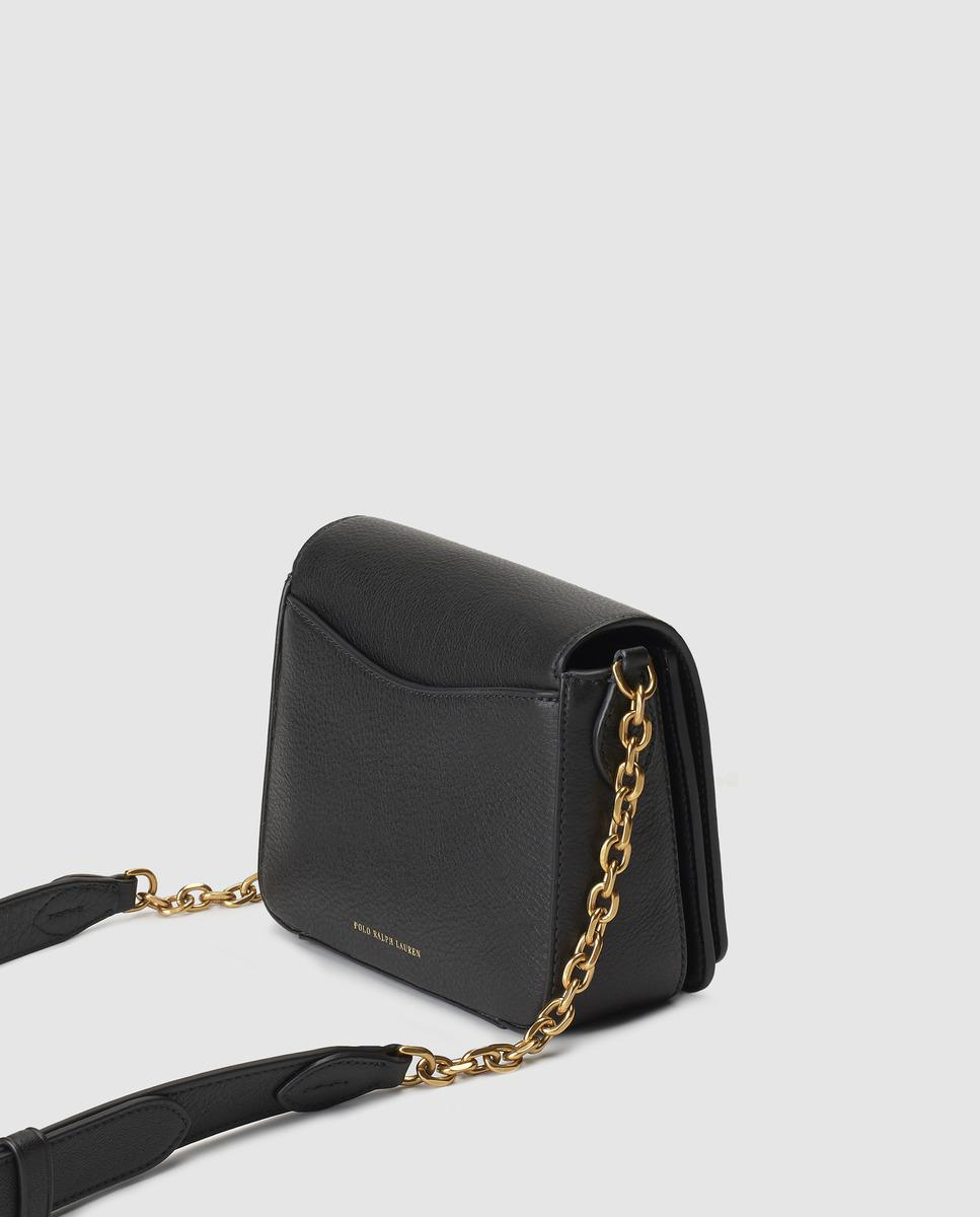 a5bcbc18eb Polo Ralph Lauren Black Leather Mini Crossbody Bag With Combined ...
