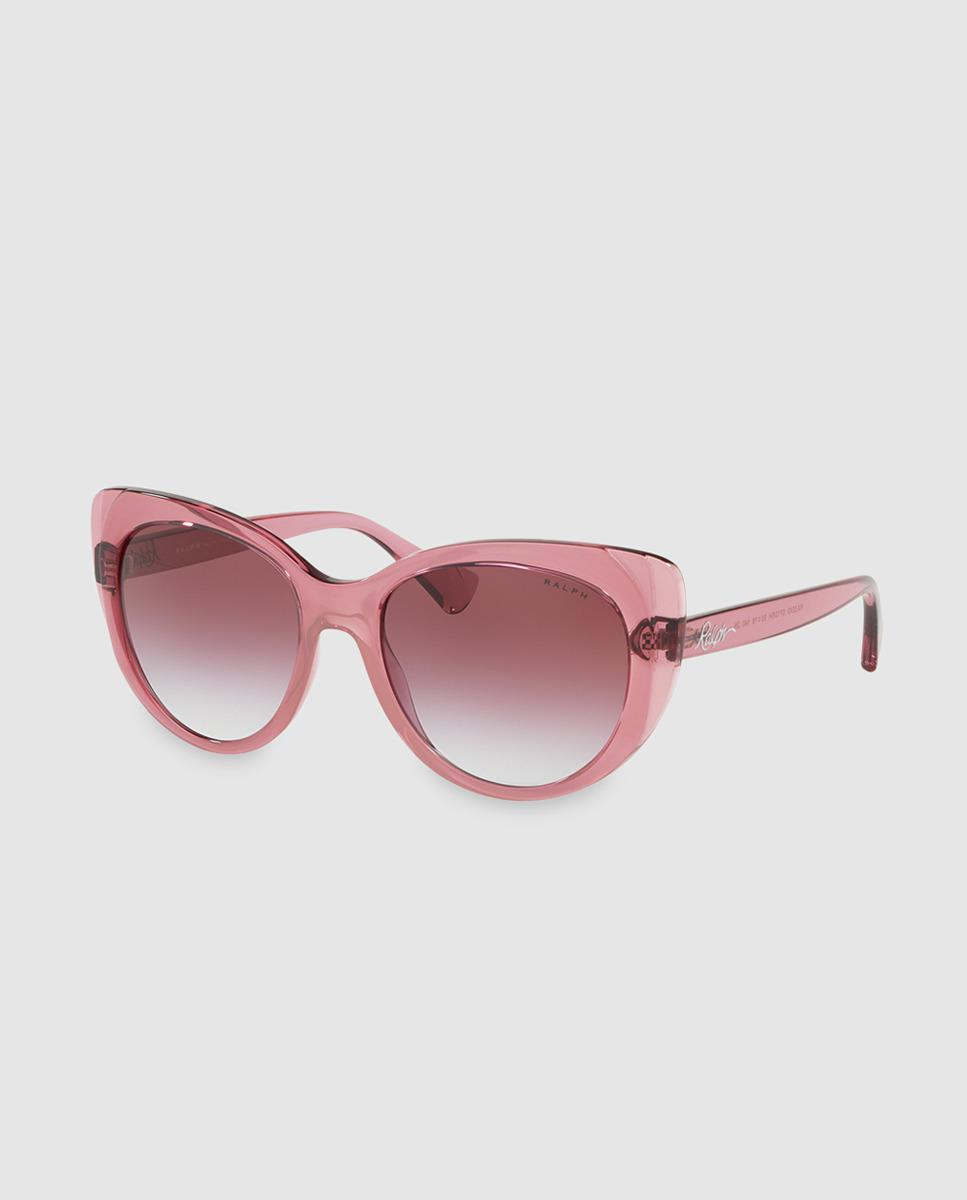 7756afa4085b0d Lauren by Ralph Lauren. Women s Translucent Pink Injected Cat-eye Sunglasses