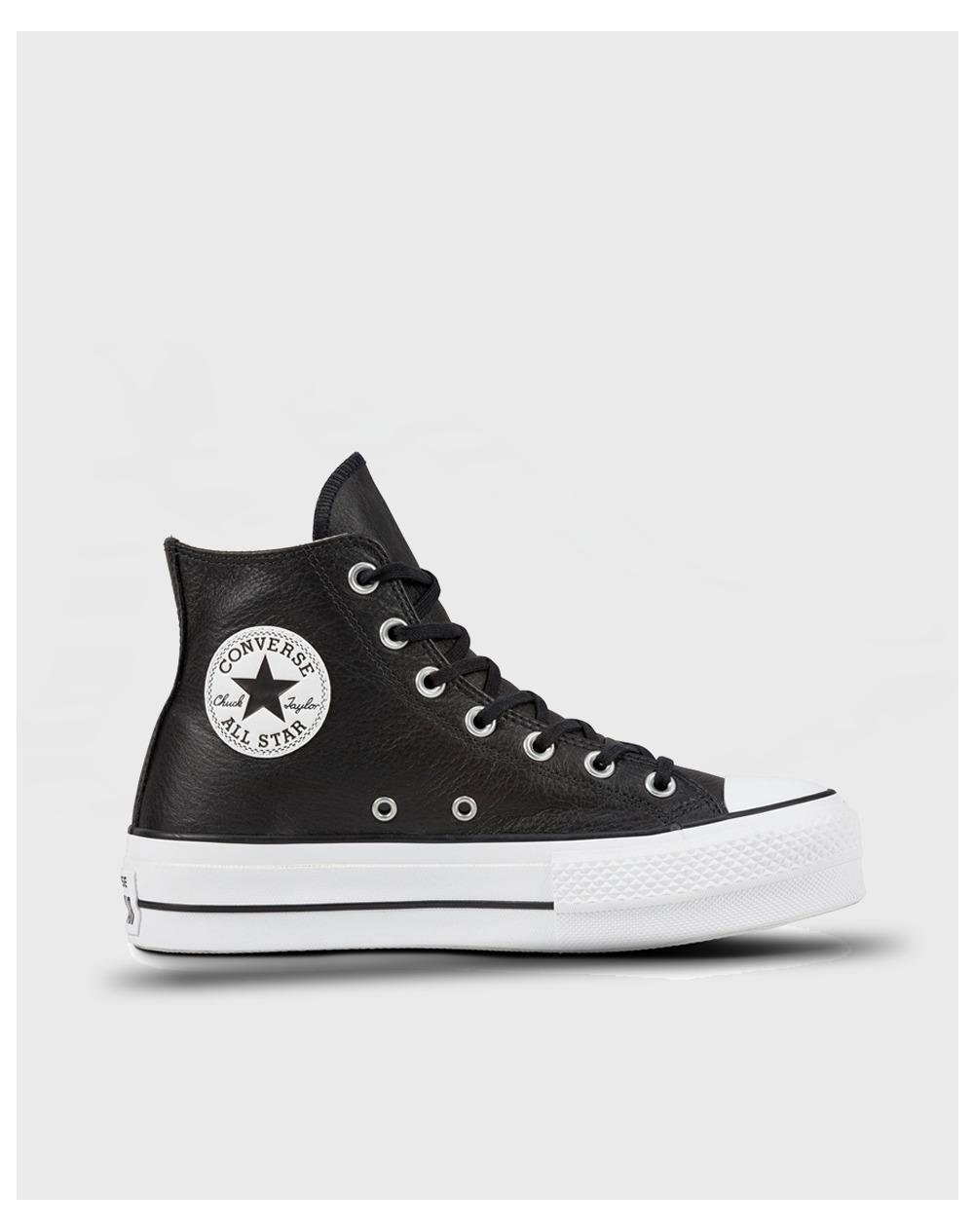 877560cabe1 Converse. Women s Black Chuck Taylor All Star Lift Clean Platform Hi Casual  Trainers