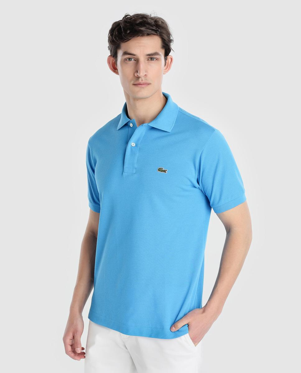 63f69965 Lacoste Blue Short Sleeve Piqué Polo Shirt in Blue for Men - Lyst
