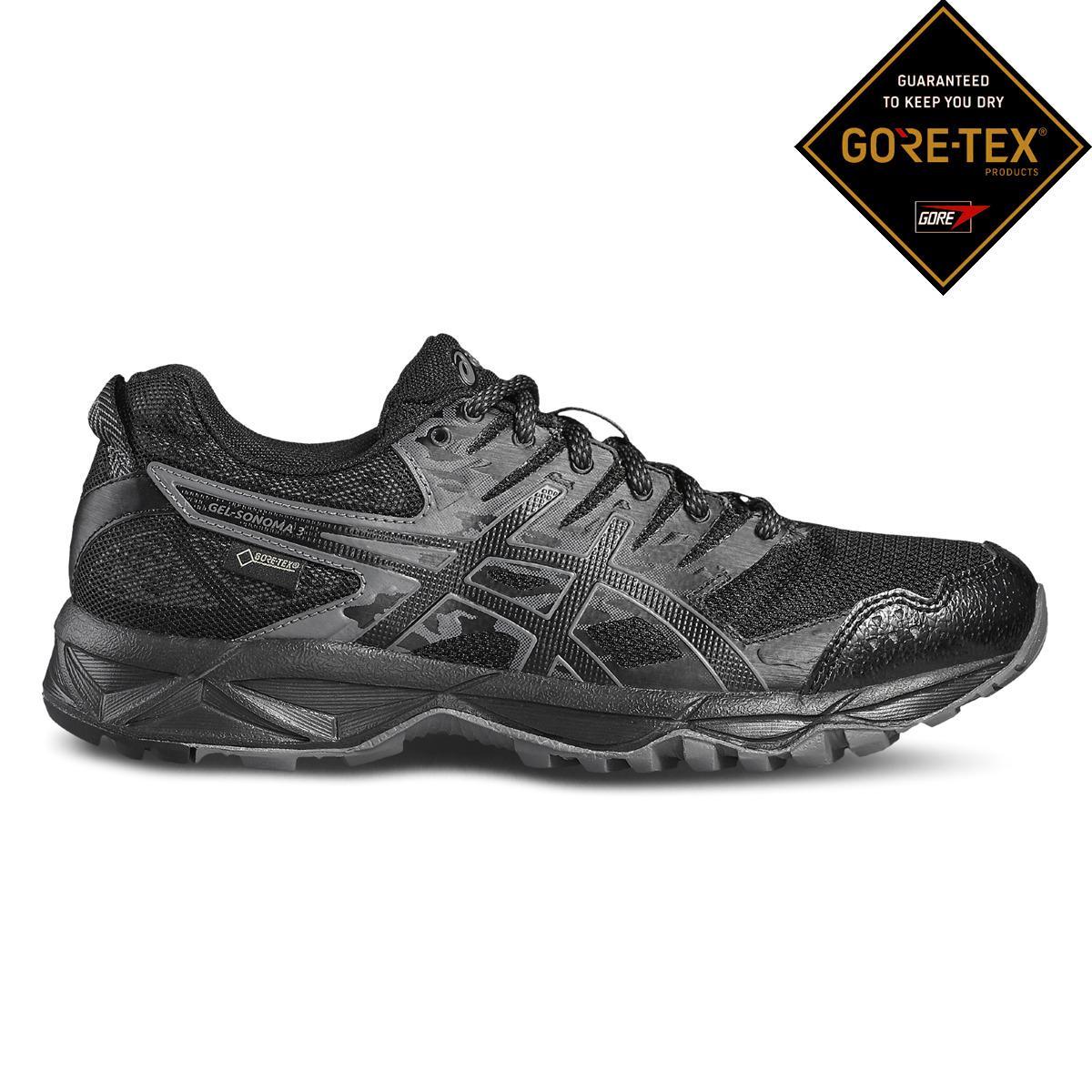ba53bbd1120 Asics - Black Gel-sonoma 3 Gore-tex Trail Running Shoes - Lyst. View  fullscreen