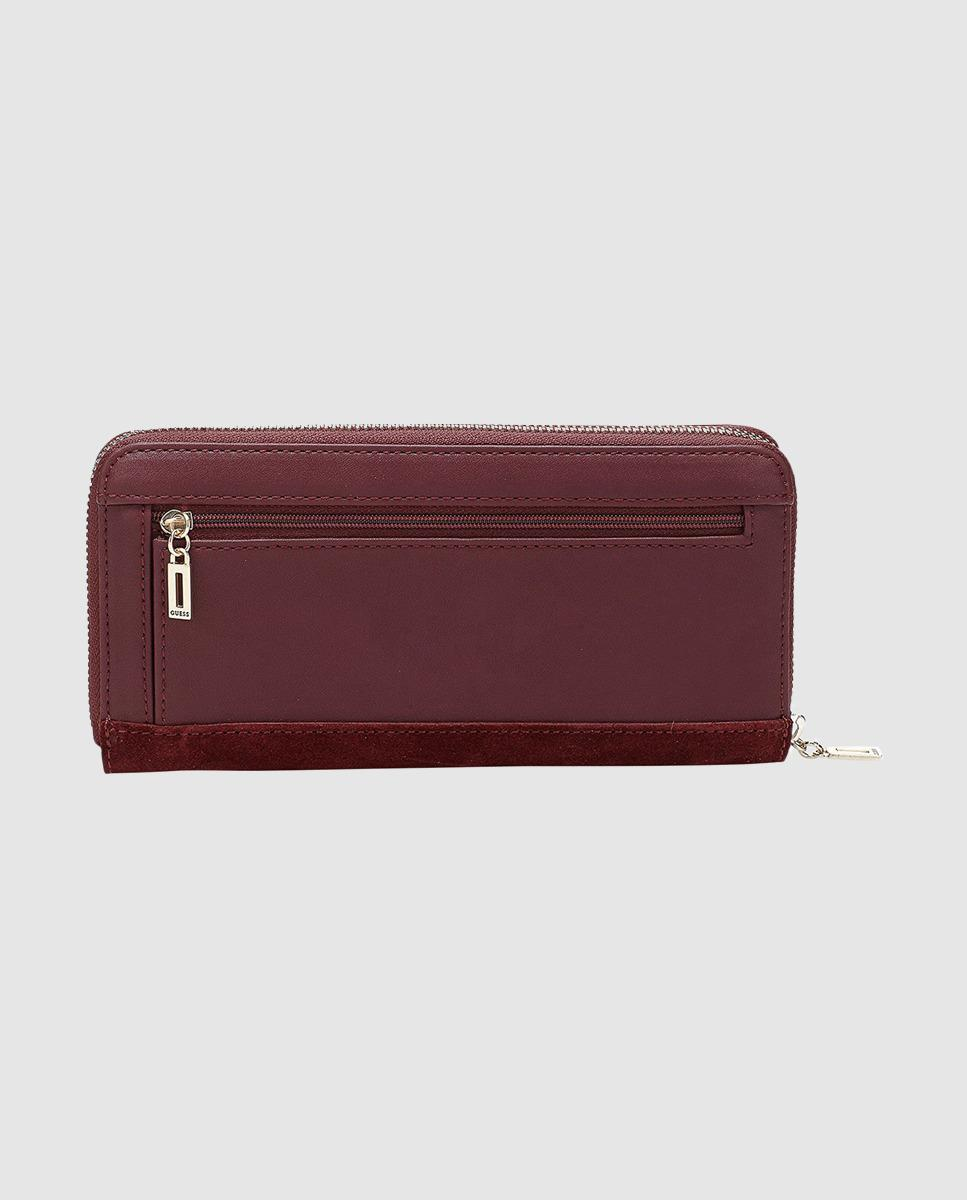 f6cf25a127 Lyst - Guess Kingsley Burgundy Wallet