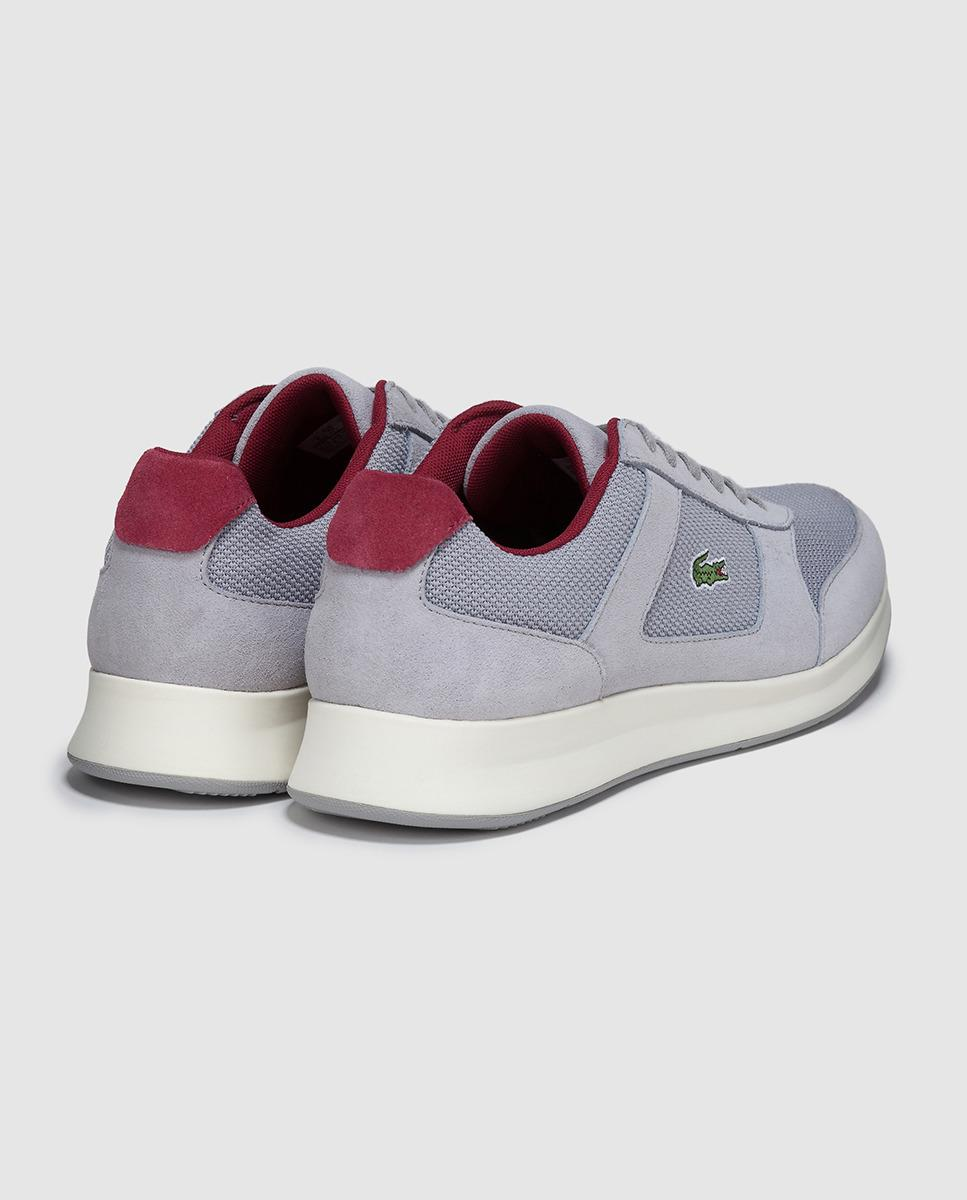 lyst lacoste grey sneakers in gray for men